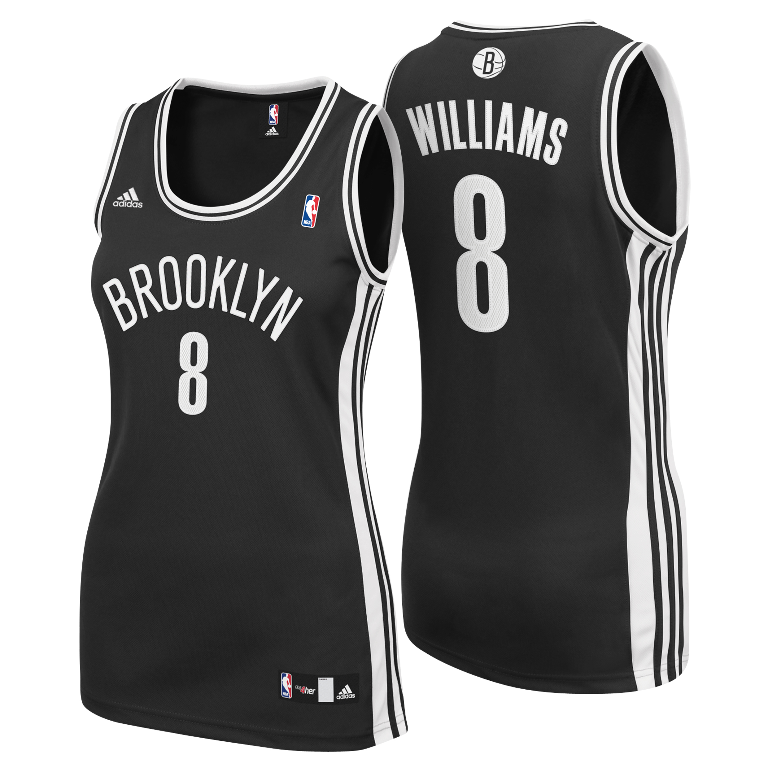 Brooklyn Nets Road Replica Jersey - Deron Williams - Womens