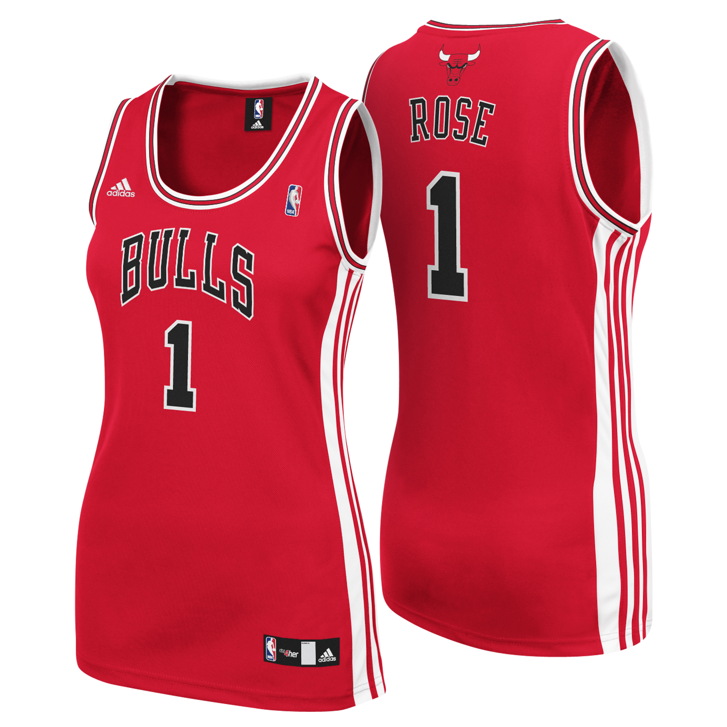 Chicago Bulls Road Replica Jersey - Derrick Rose - Womens