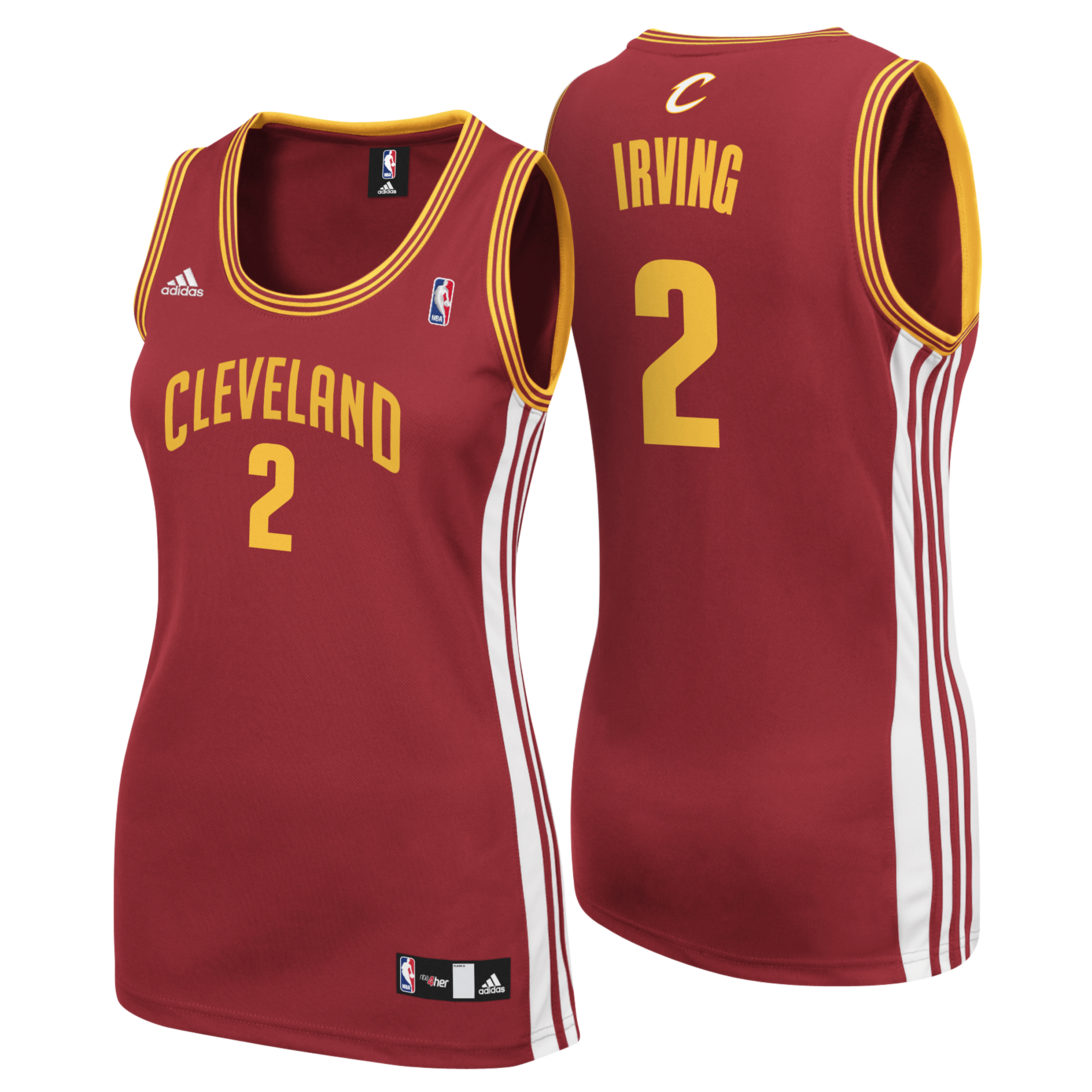 Cleveland Cavaliers Road Replica Jersey - Kyrie Irving - Womens