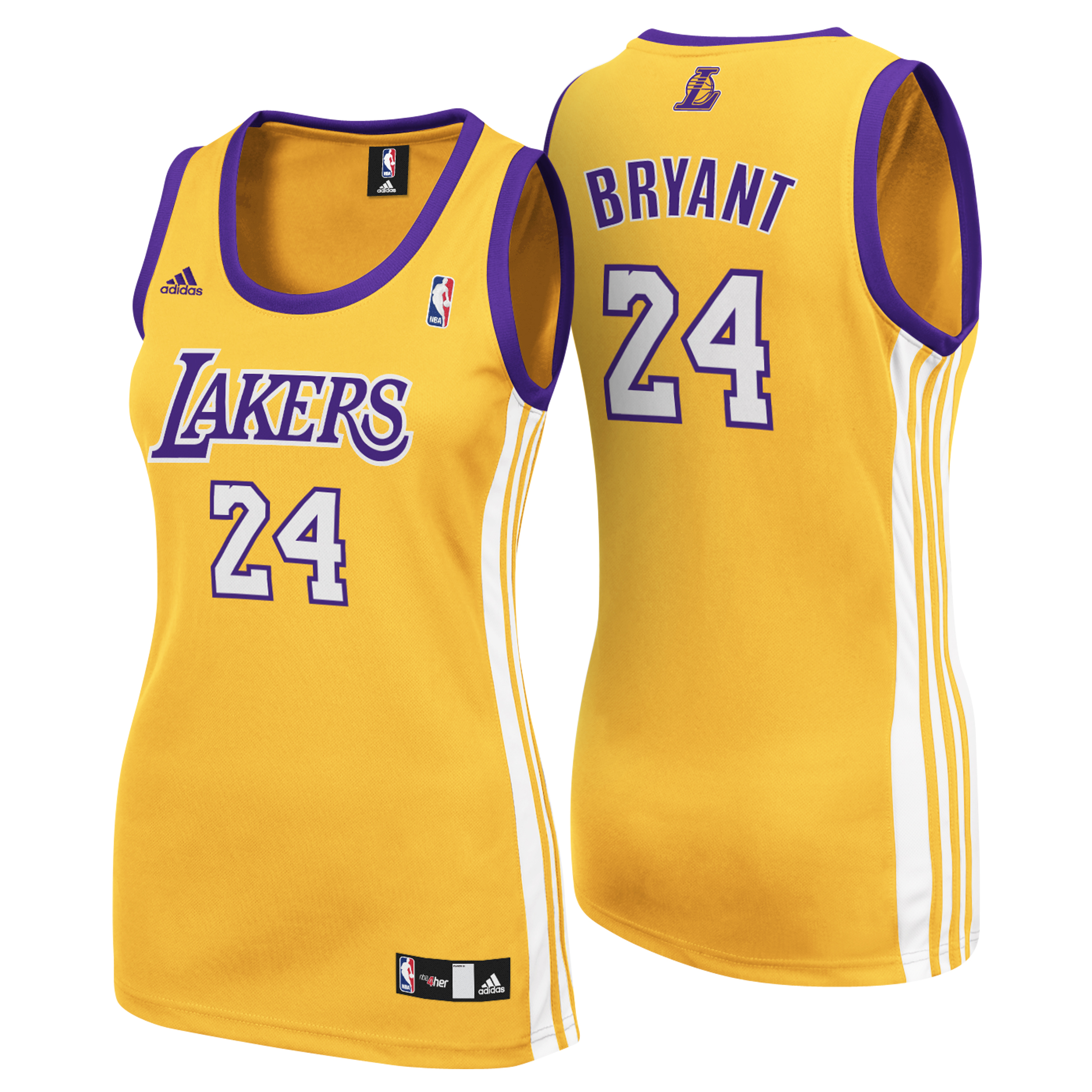 Los Angeles Lakers Home Replica Jersey - Kobe Bryant - Womens