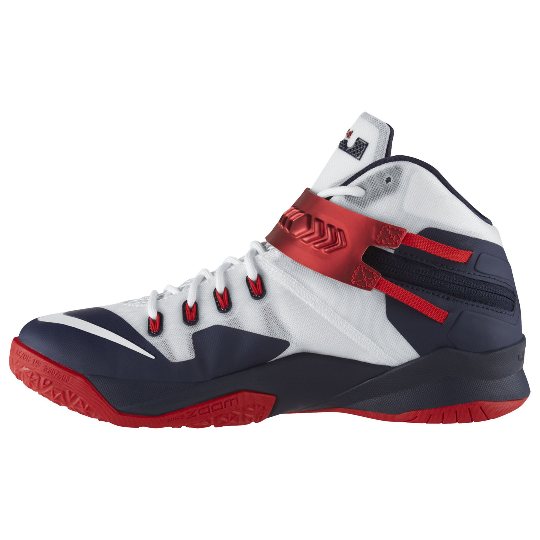 Nike Zoom Soldier VIII Basketball Shoe - White/White/Obsidian