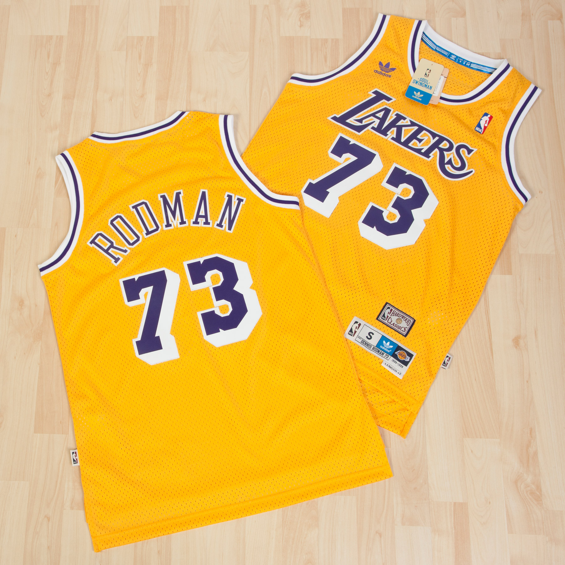 Los Angeles Lakers Home Soul Swingman Jersey - Dennis Rodman - Mens
