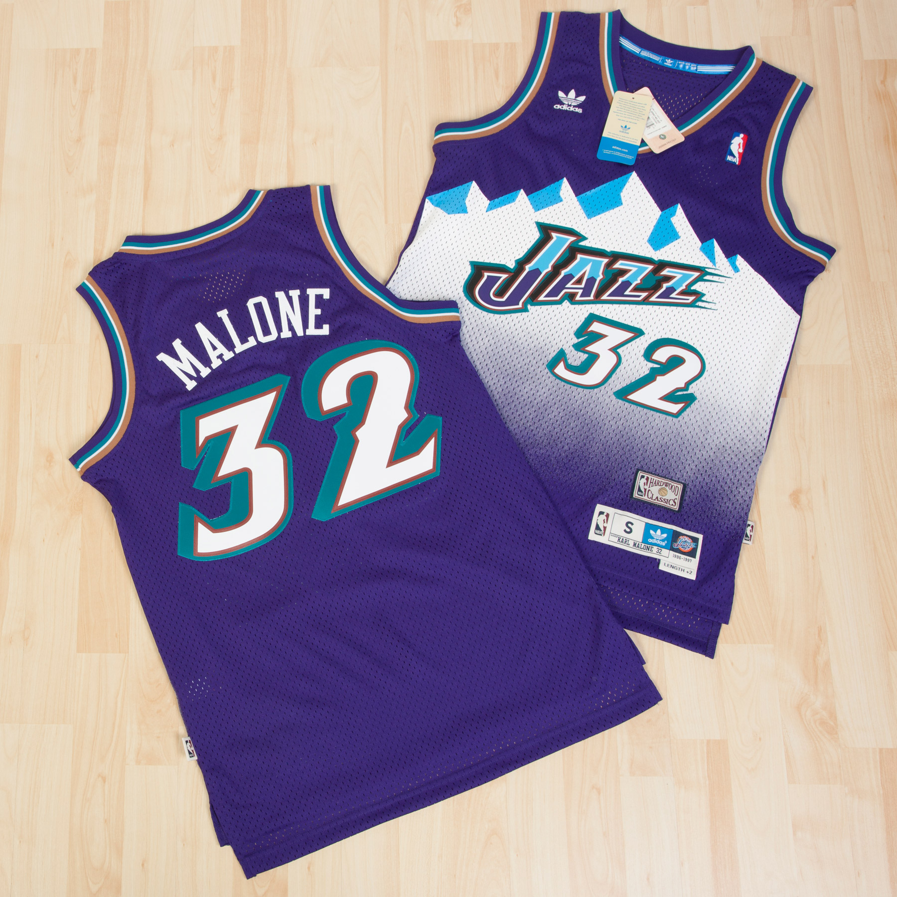 Utah Jazz Road Soul Swingman Jersey - Karl Malone - Mens