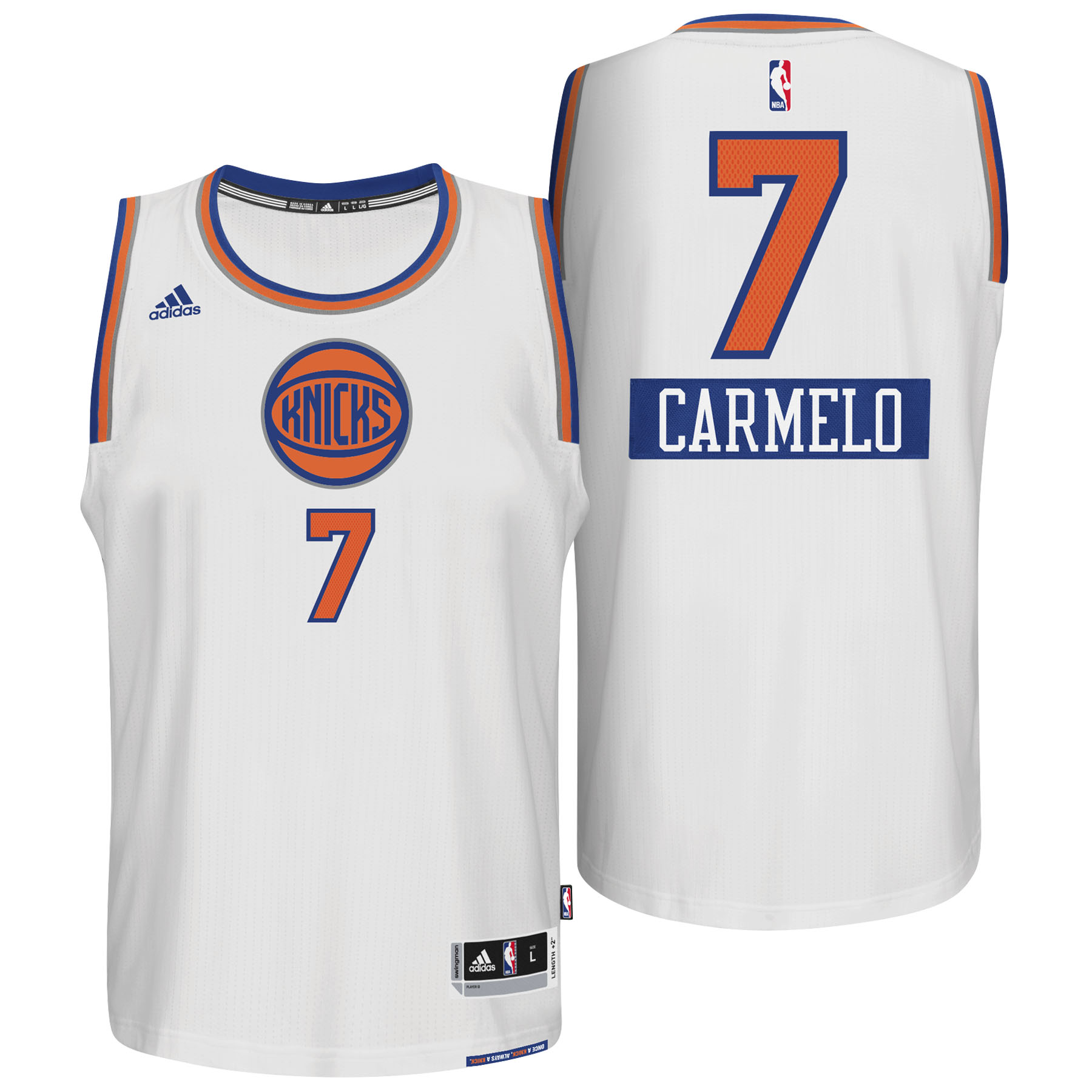 New York Knicks X-mas Big Logo Swingman Jersey 2014 - Carmelo Anthony - Mens