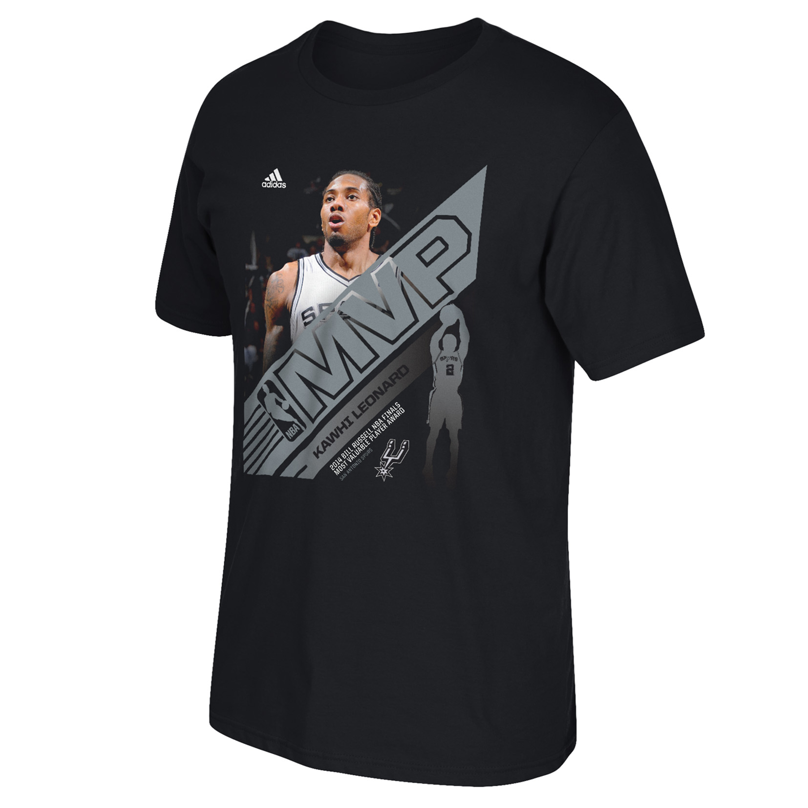 San Antonio Spurs NBA Champions Finals MVP Kawhi Leonard T-Shirt Black