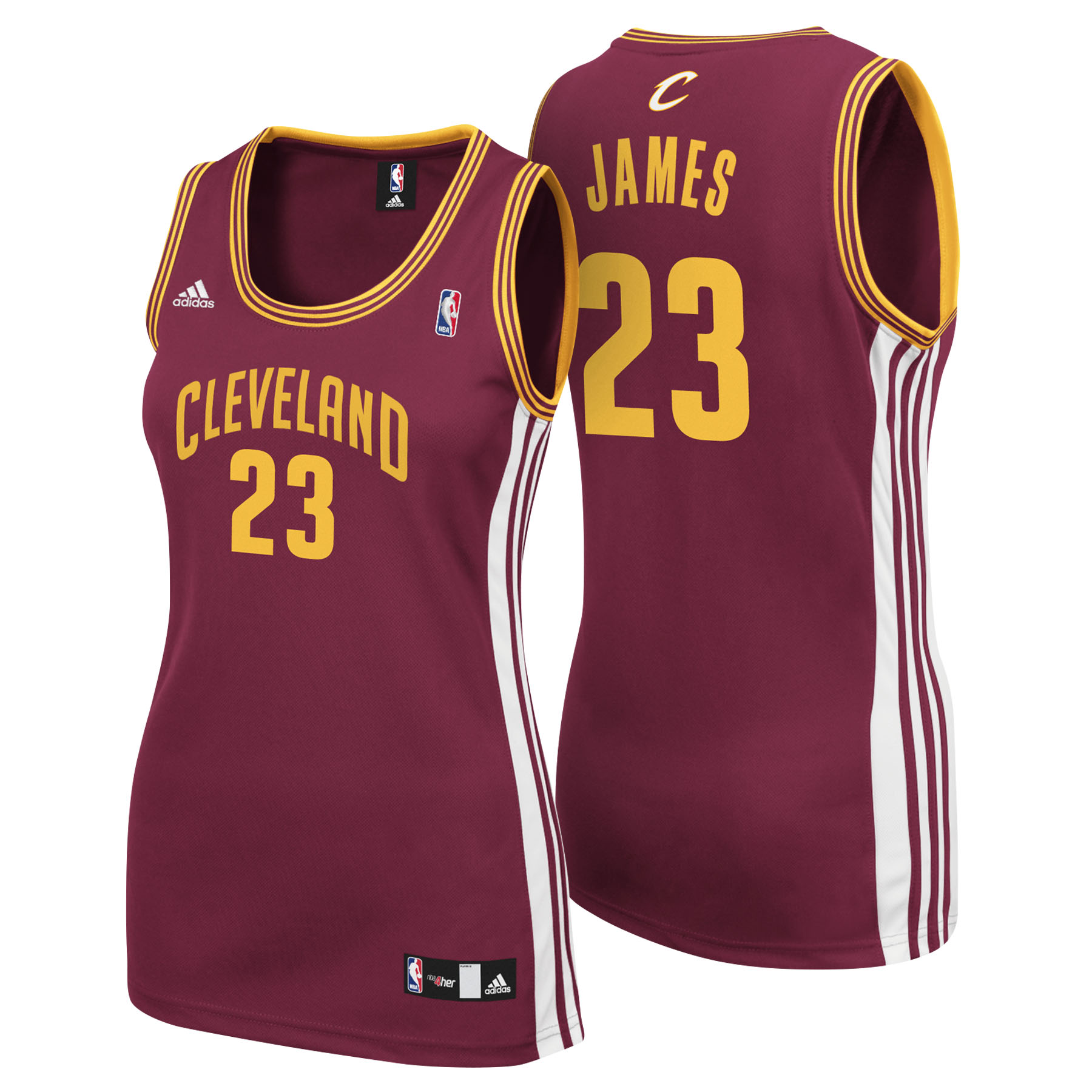 Cleveland Cavaliers Road Replica Jersey - Lebron James - Womens