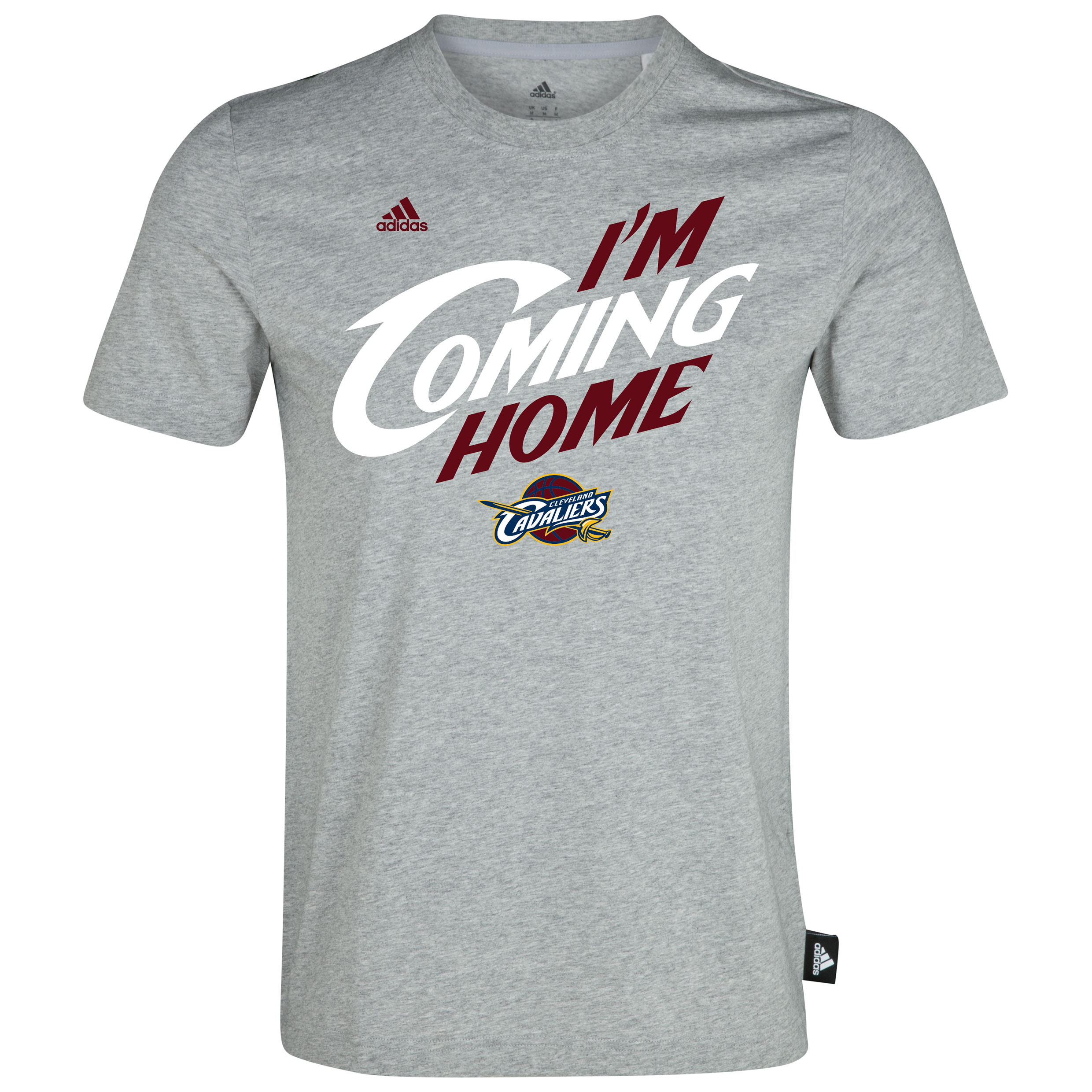 Cleveland Cavaliers Im Coming Home T-Shirt - Lebron James - Mens Grey