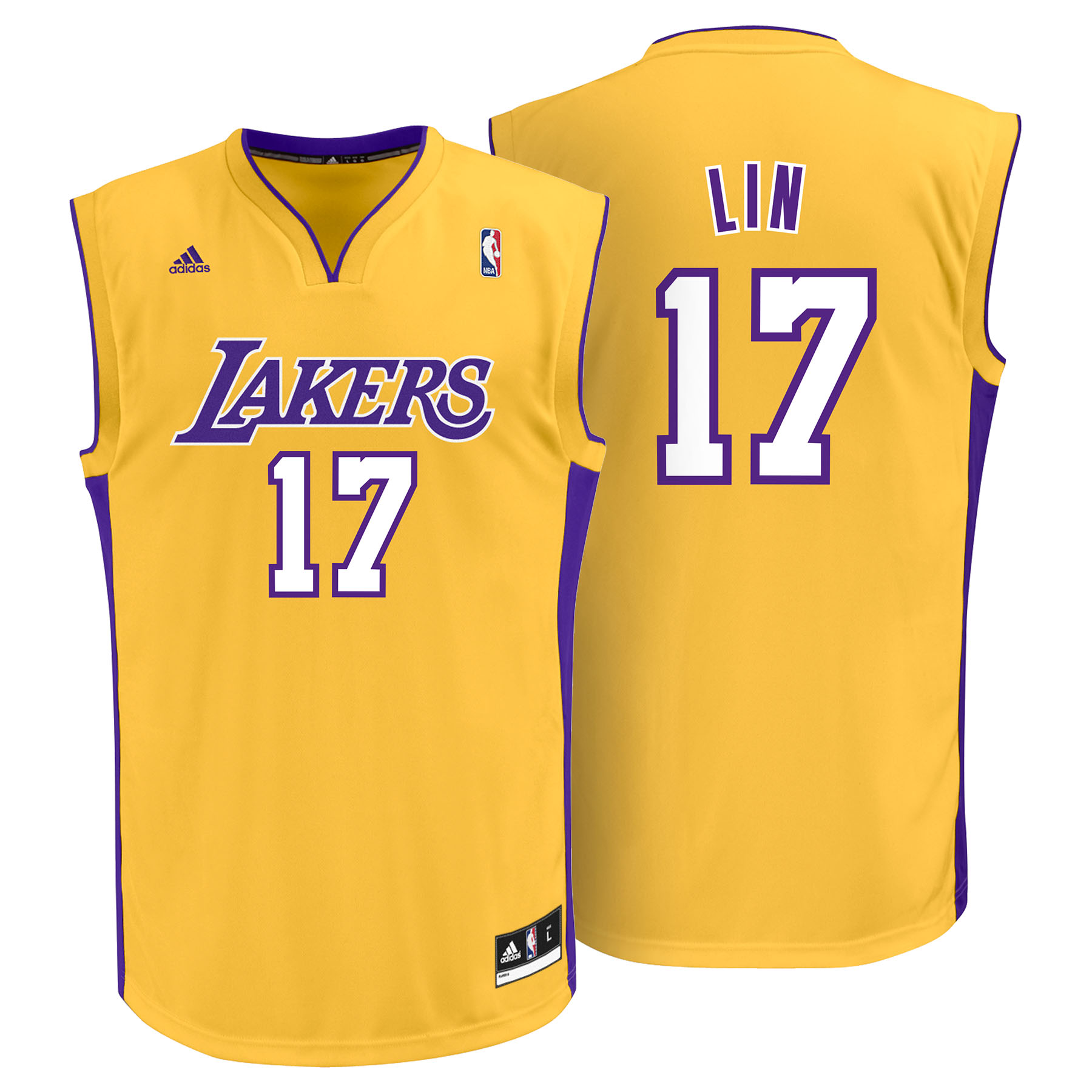 Los Angeles Lakers Home Replica Jersey - Jeremy Lin - Mens