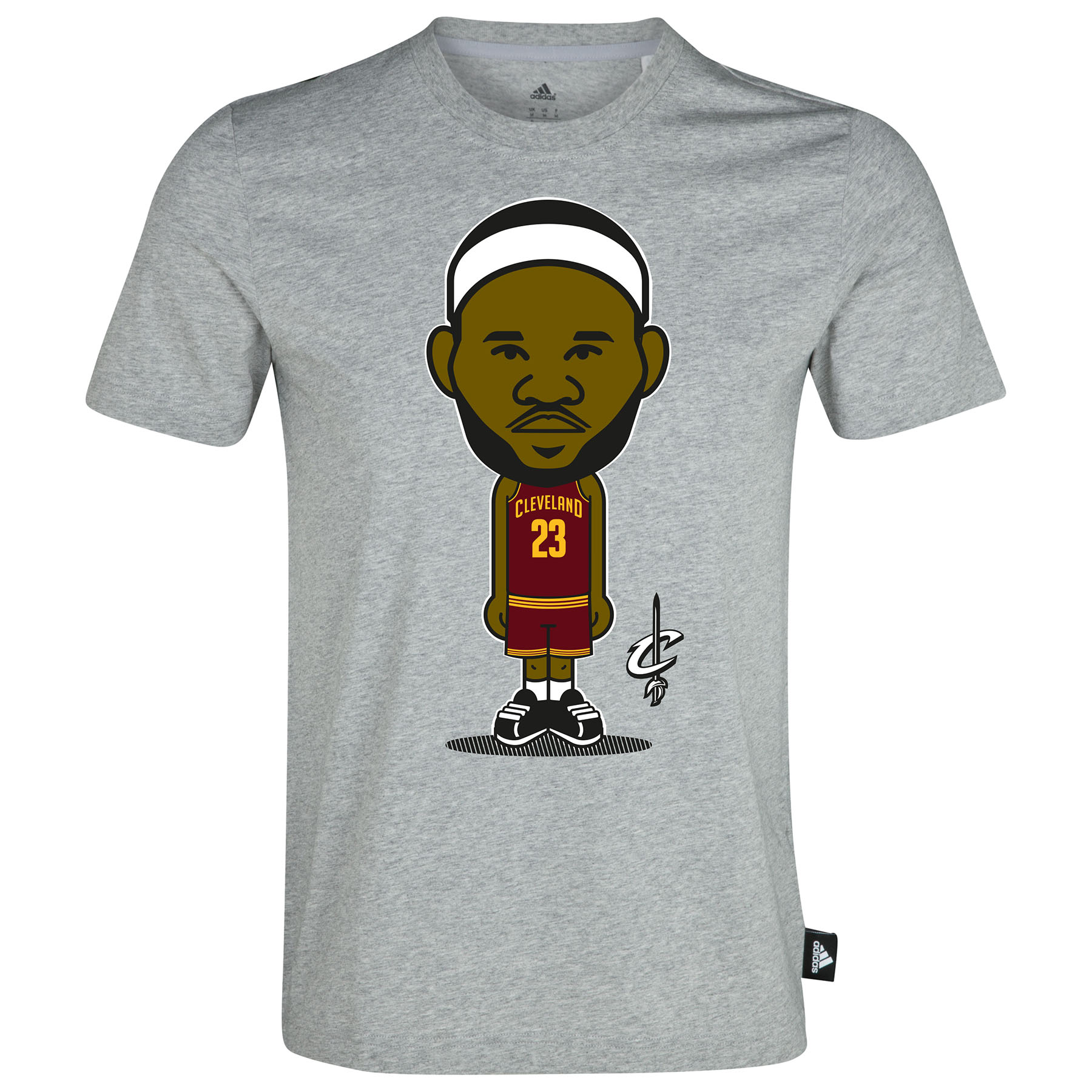 Cleveland Cavaliers Geek T-Shirt - Lebron James - Mens White