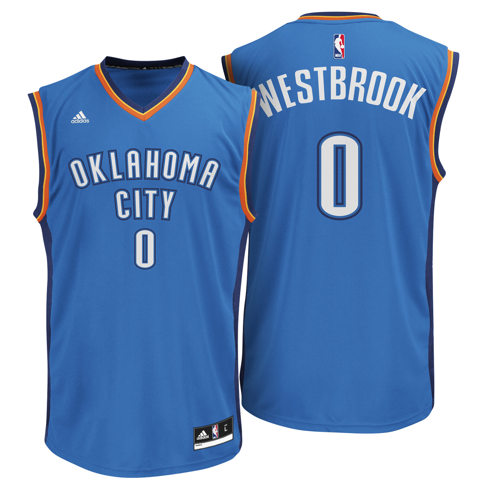 Oklahoma City Thunder Road Replica Jersey - Russell Westbrook
