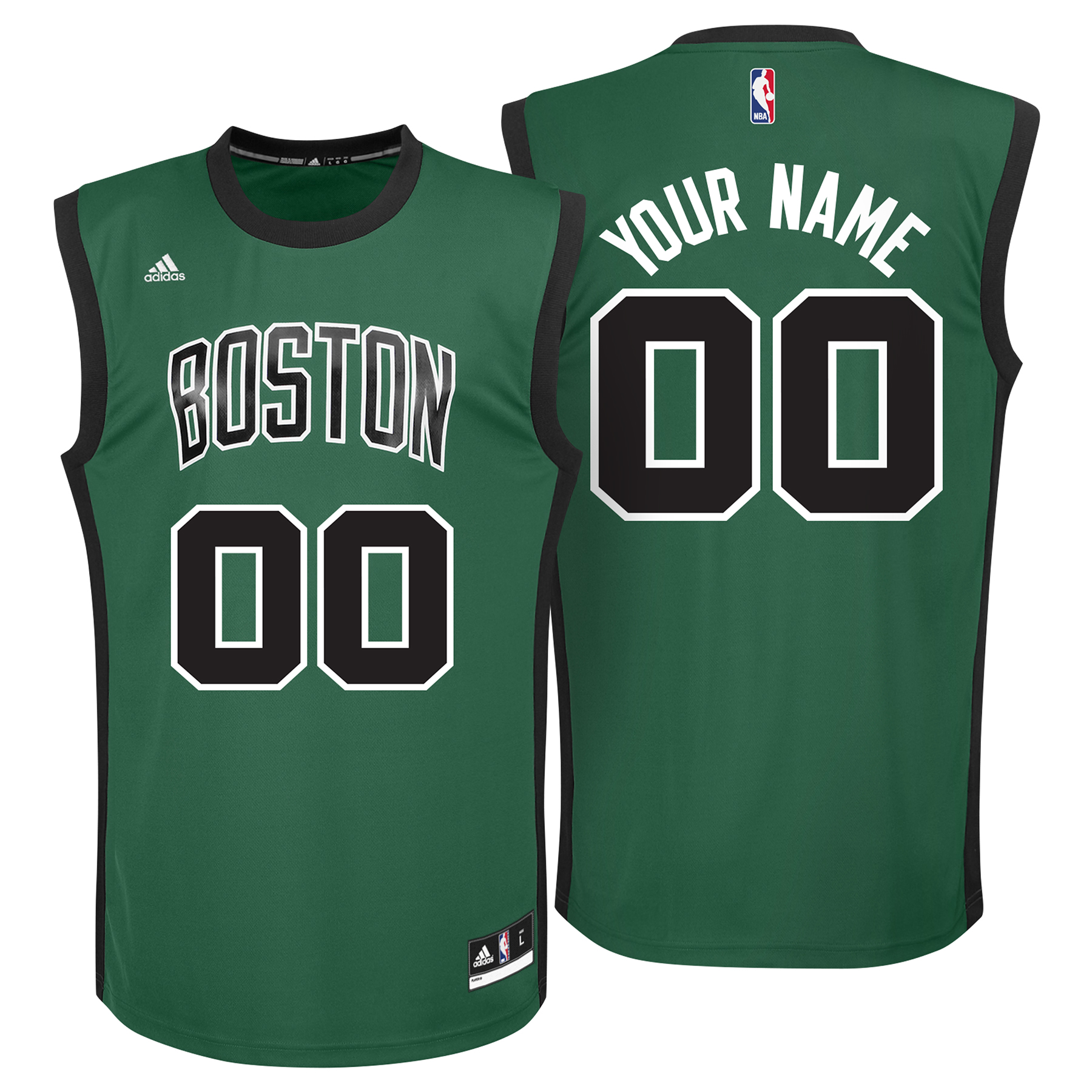 Boston Celtics Alternate Replica Jersey - Custom - Mens