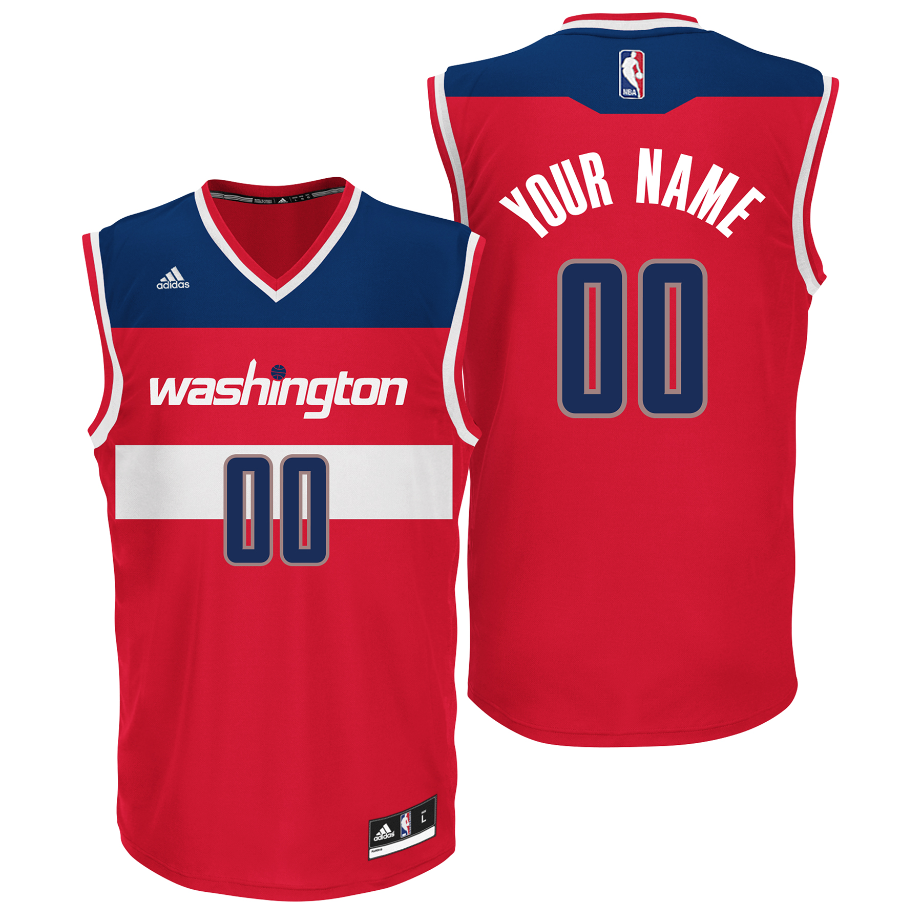 Washington Wizards Road Replica Jersey - Custom - Mens