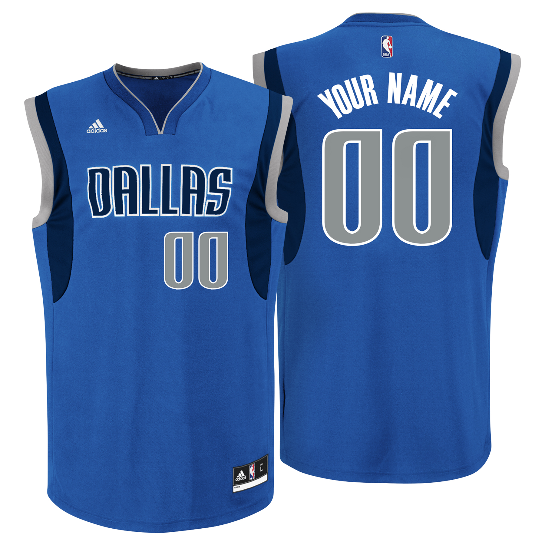 Dallas Mavericks Road Replica Jersey - Custom - Mens