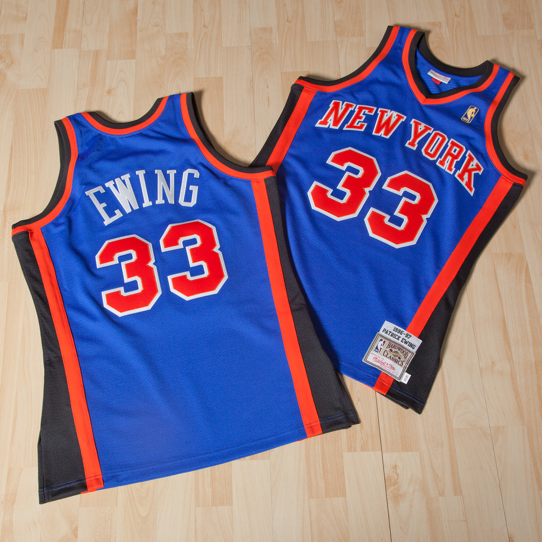 New York Knicks Patrick Ewing 1996-97 Road Authentic Jersey By Mitchel