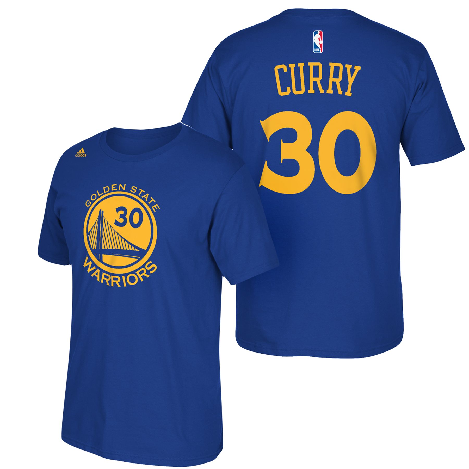 Golden State Warriors adidas Name & Number T-Shirt - Stephen Curry