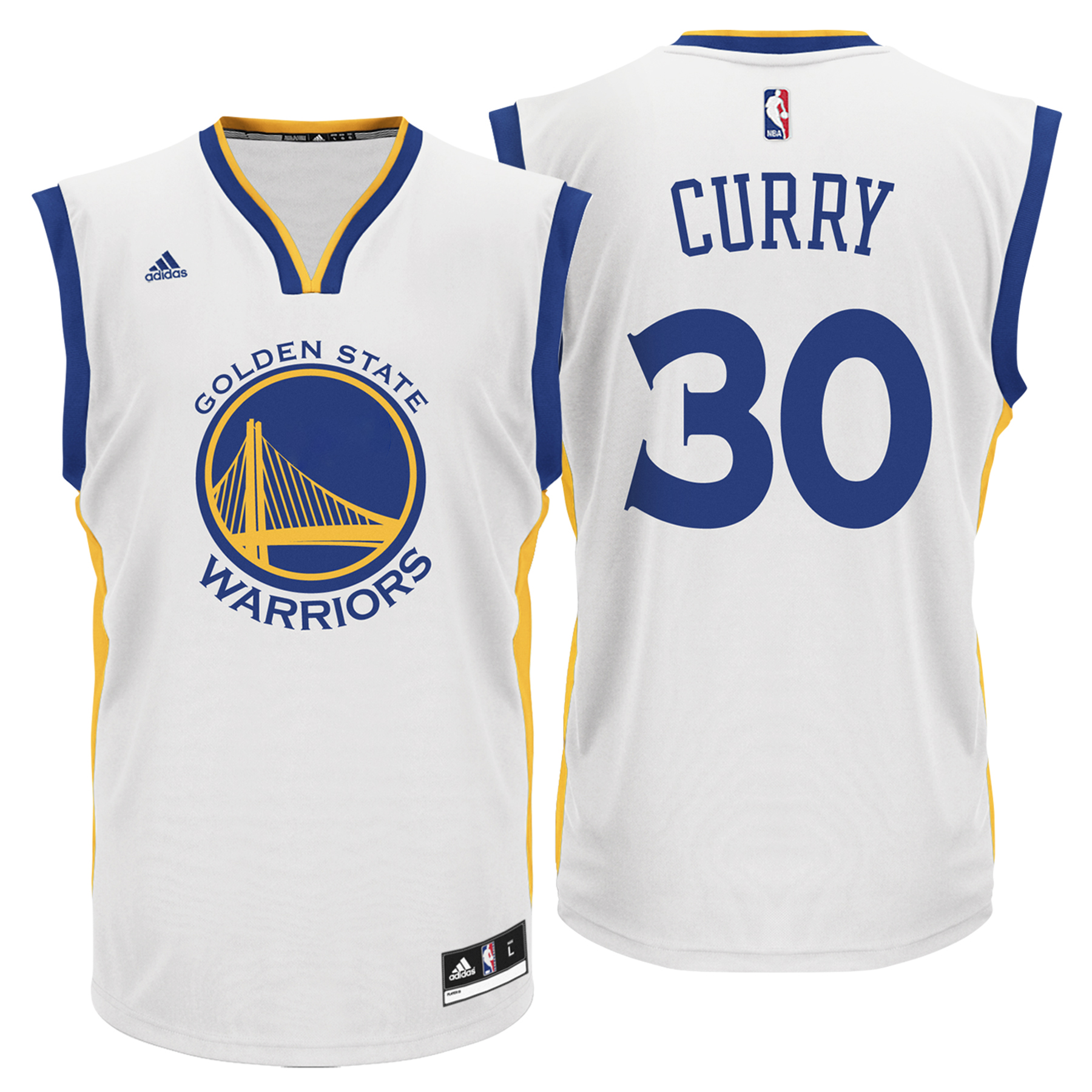 Golden State Warriors Home Replica Jersey - Stephen Curry - Mens