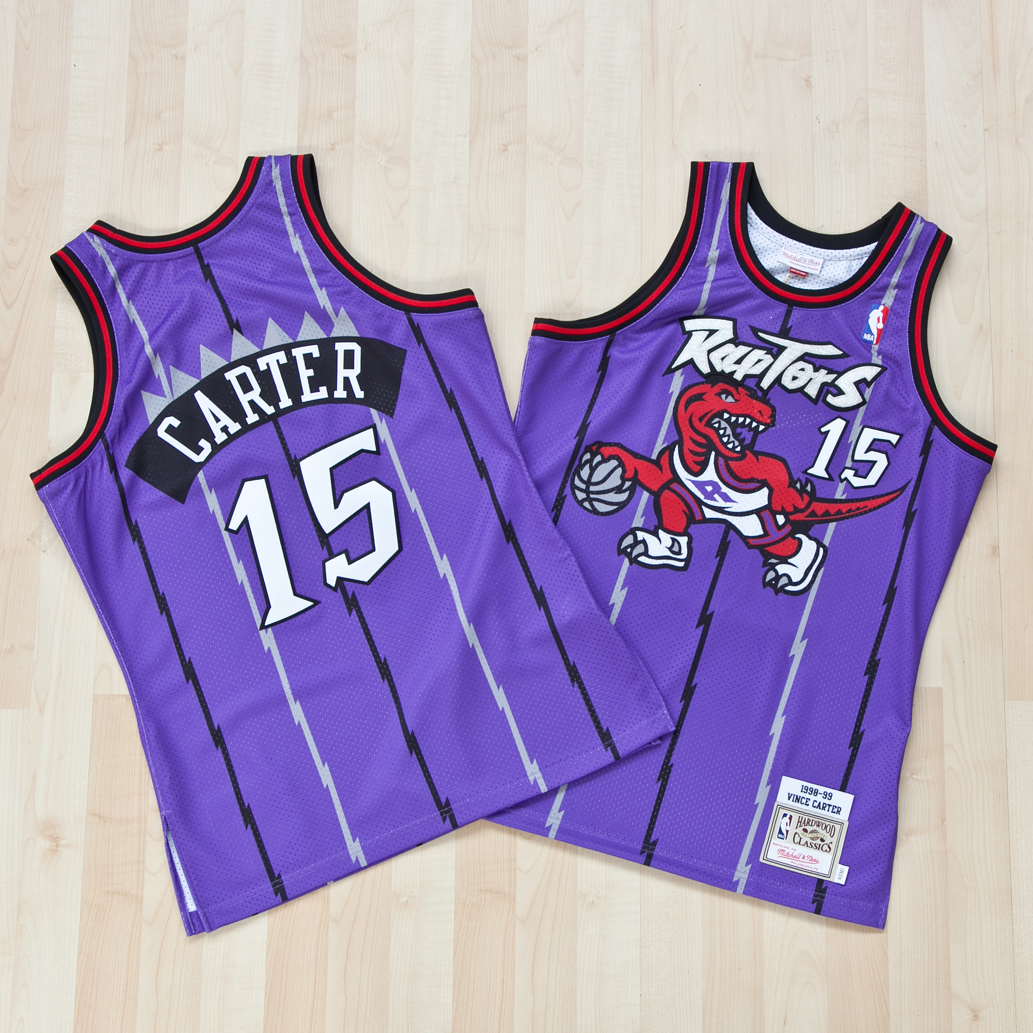 Toronto Raptors Vince Carter 1998-99 Home Authentic Jersey By Mitchell