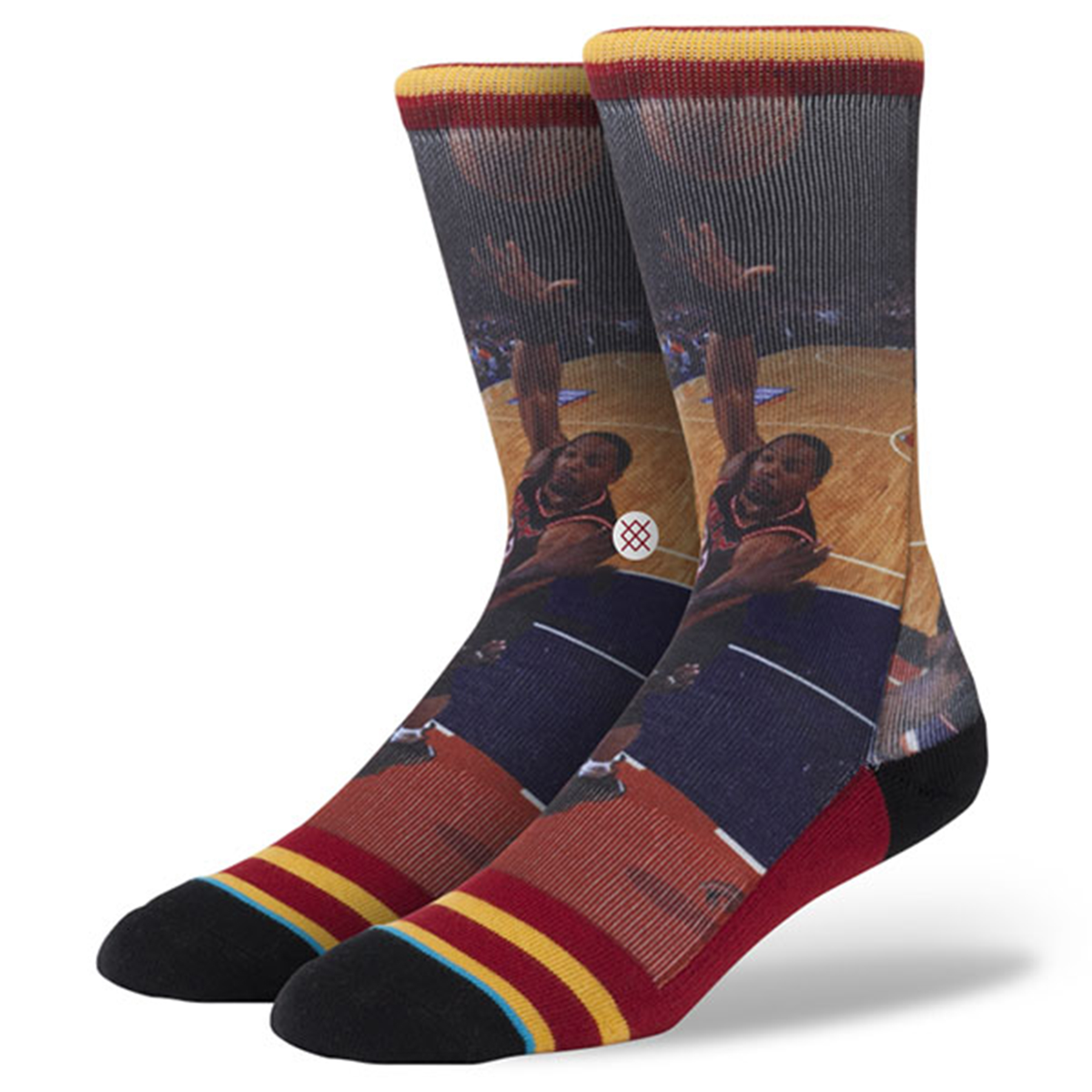 Miami Heat Stance Hardwood Classics Player Socks - Alonzo Mourning