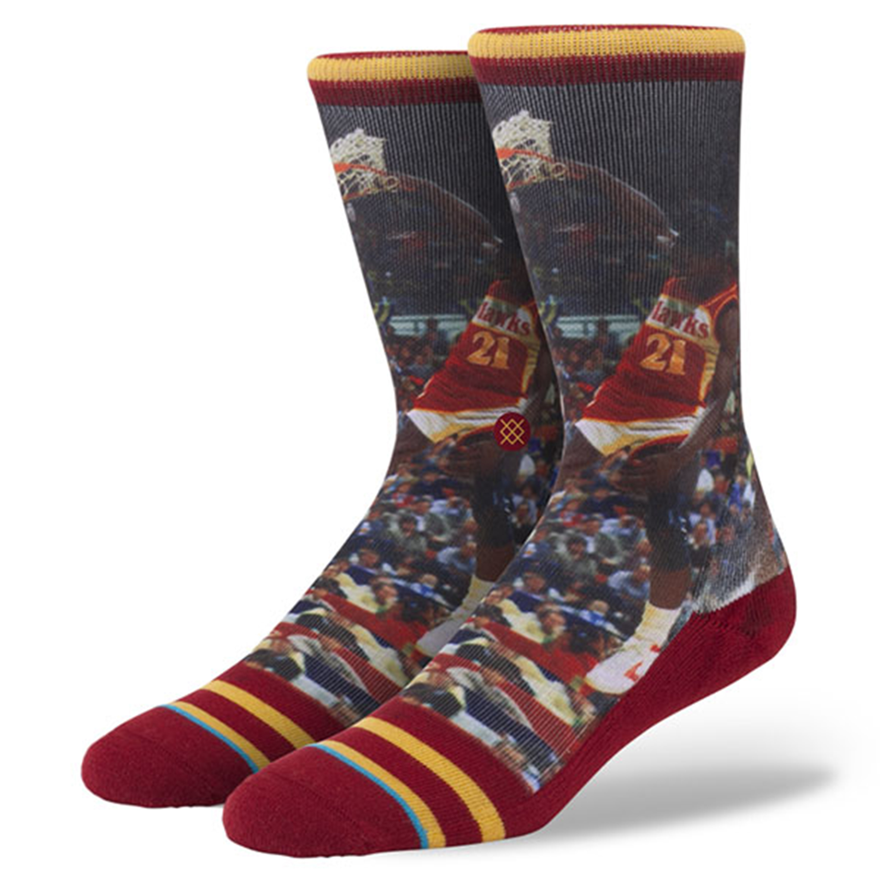 Atlanta Hawks Stance Hardwood Classics Player Socks - Dominique Wilkin