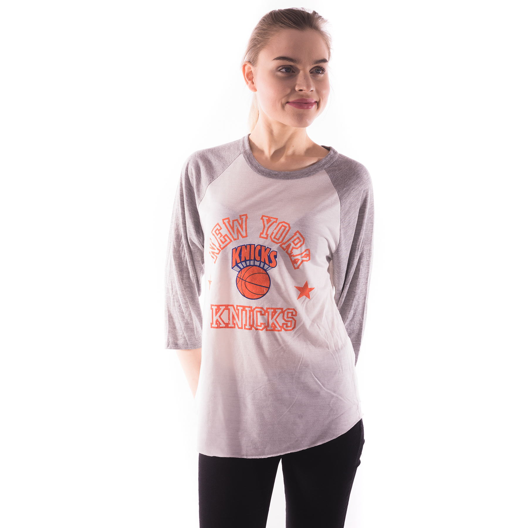 Miami Heat Down to the Wire Raglan Top White/Red - Womens