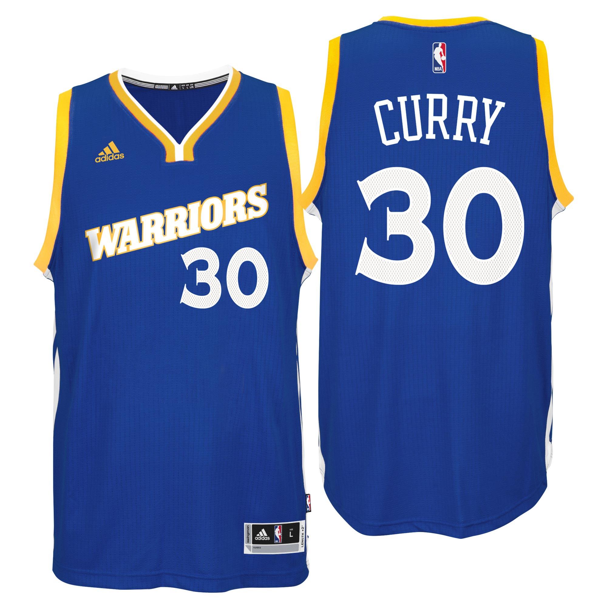 Golden State Warriors Road Stretch Swingman Jersey - Stephen Curry - M