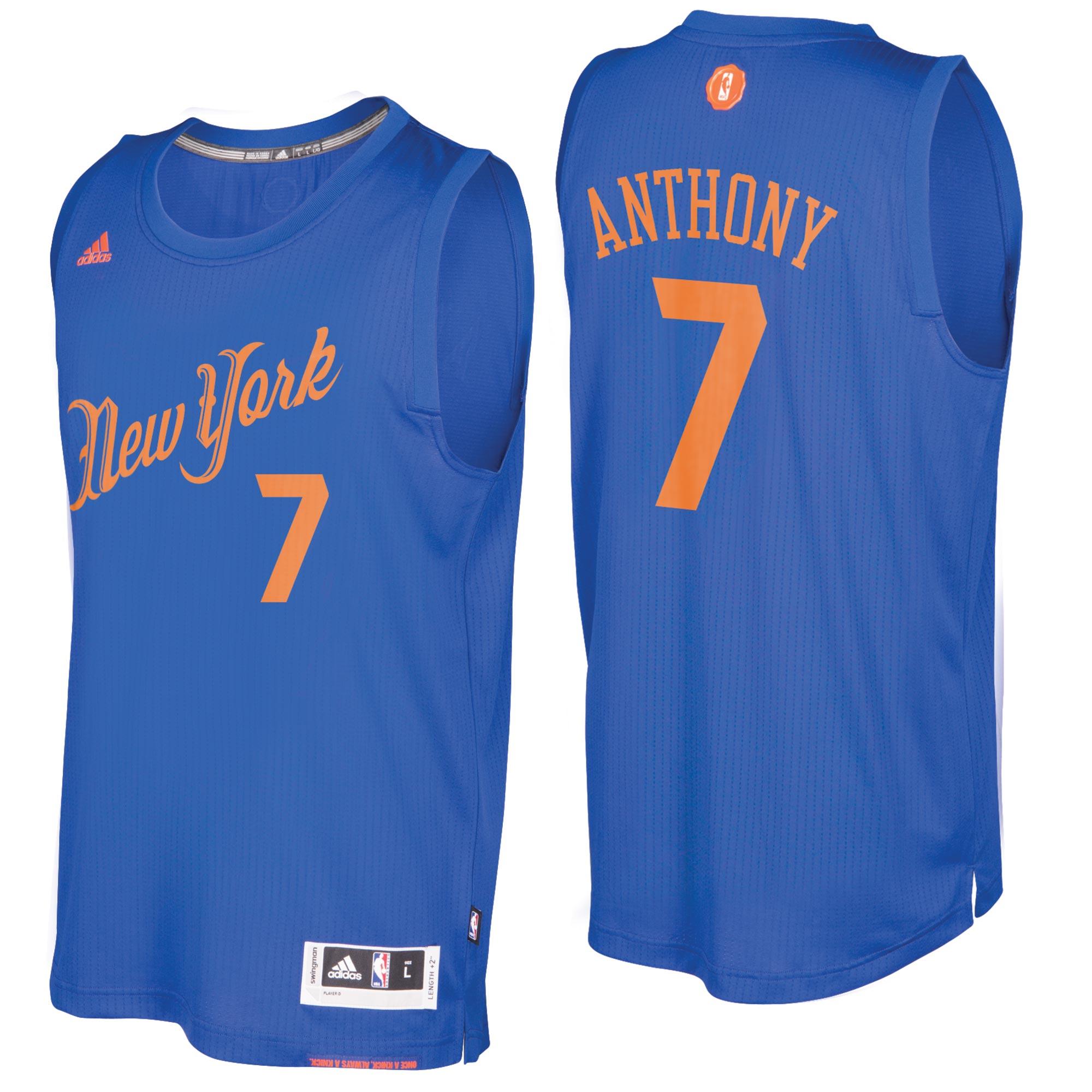 New York Knicks Christmas Day Swingman Jersey 2016 - Carmelo Anthony -