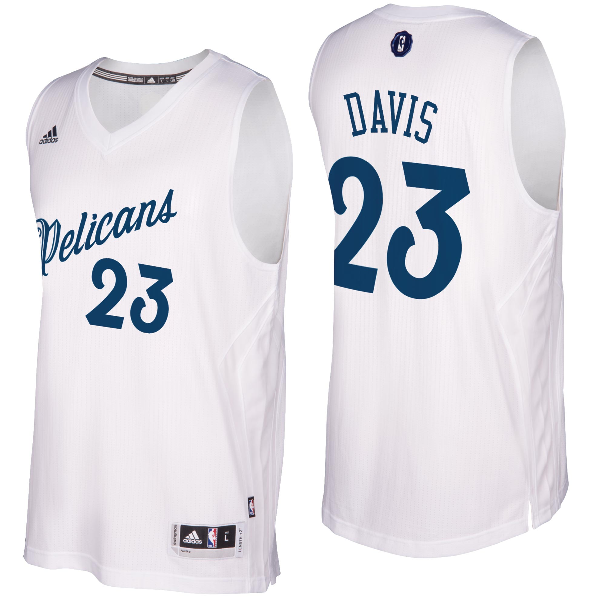 New Orleans Pelicans Christmas Day Swingman Jersey 2016 - Anthony Davi