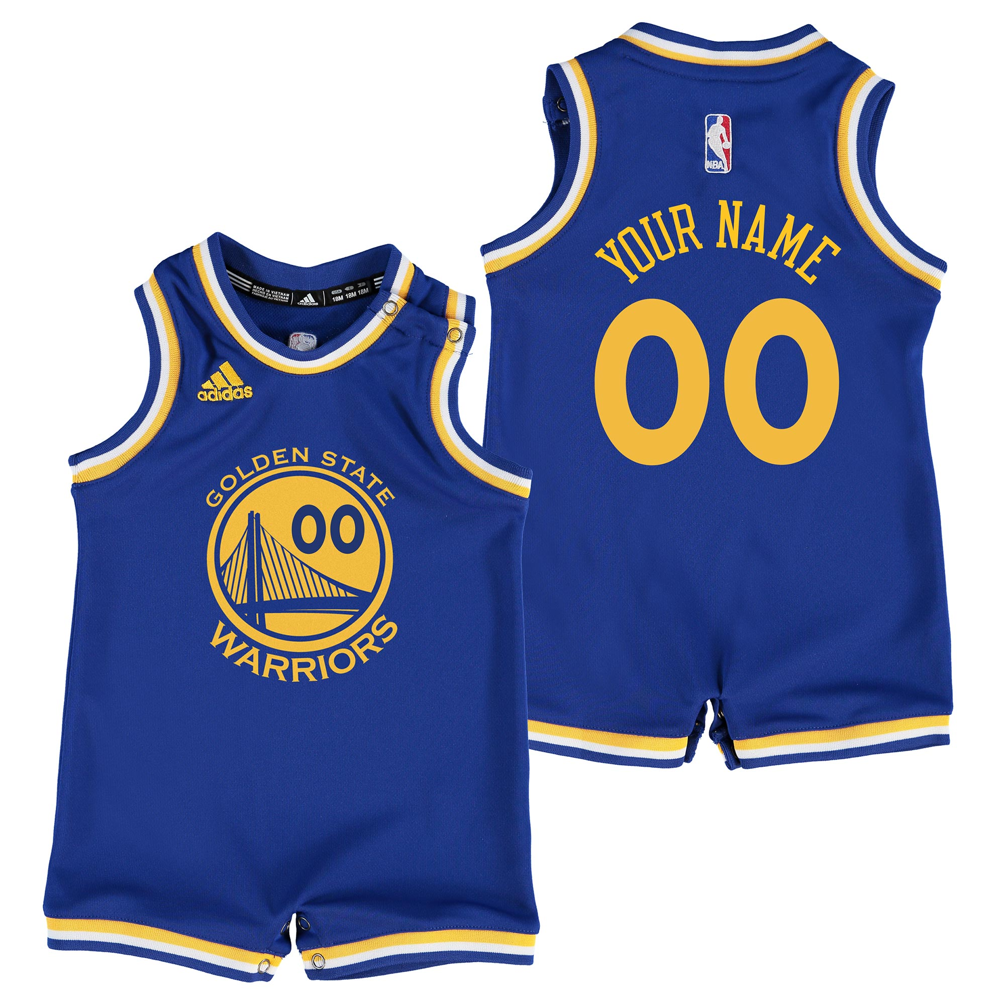 Golden State Warriors Road Replica Jersey - Custom - Infant