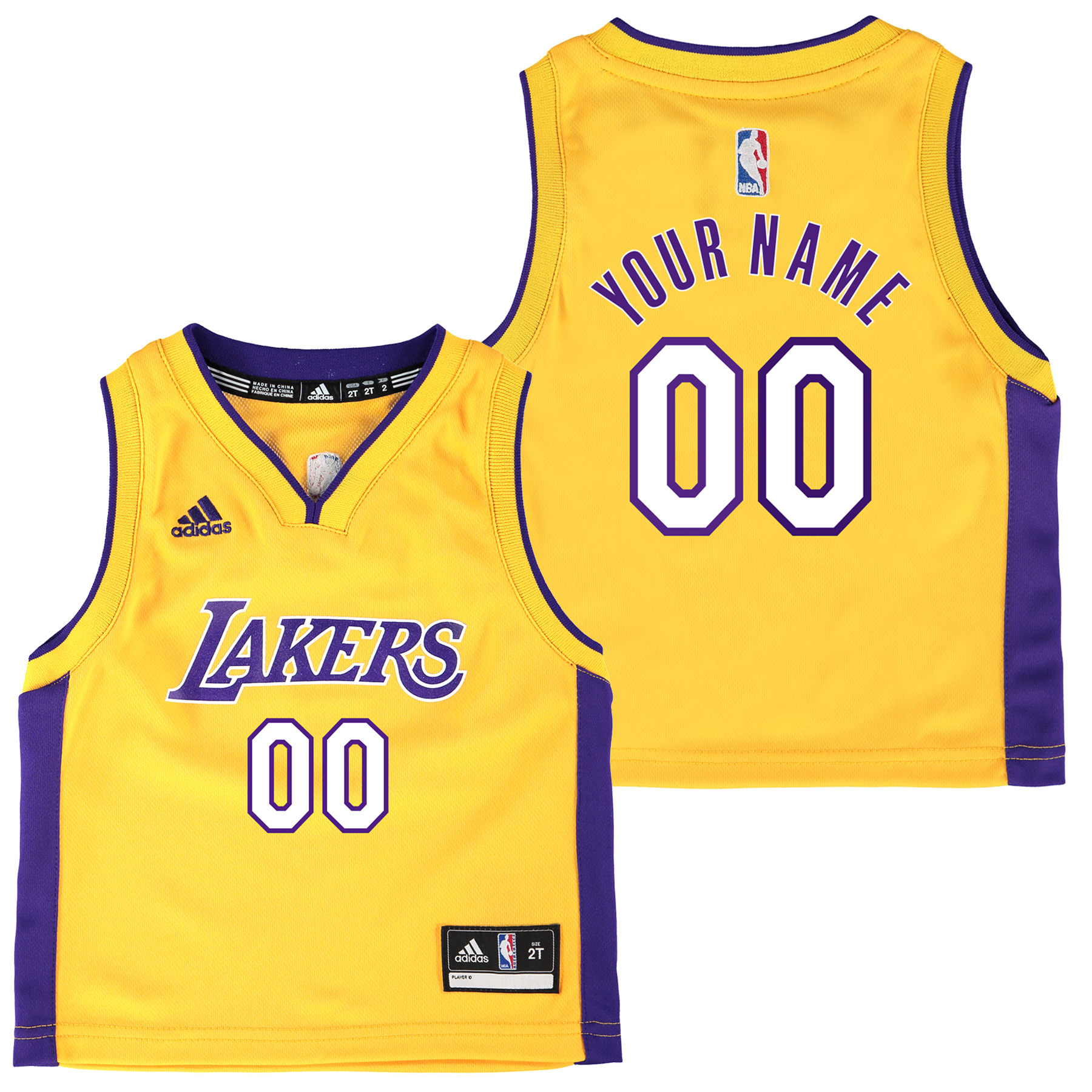 Los Angeles Lakers Home Replica Jersey - Custom - Toddler