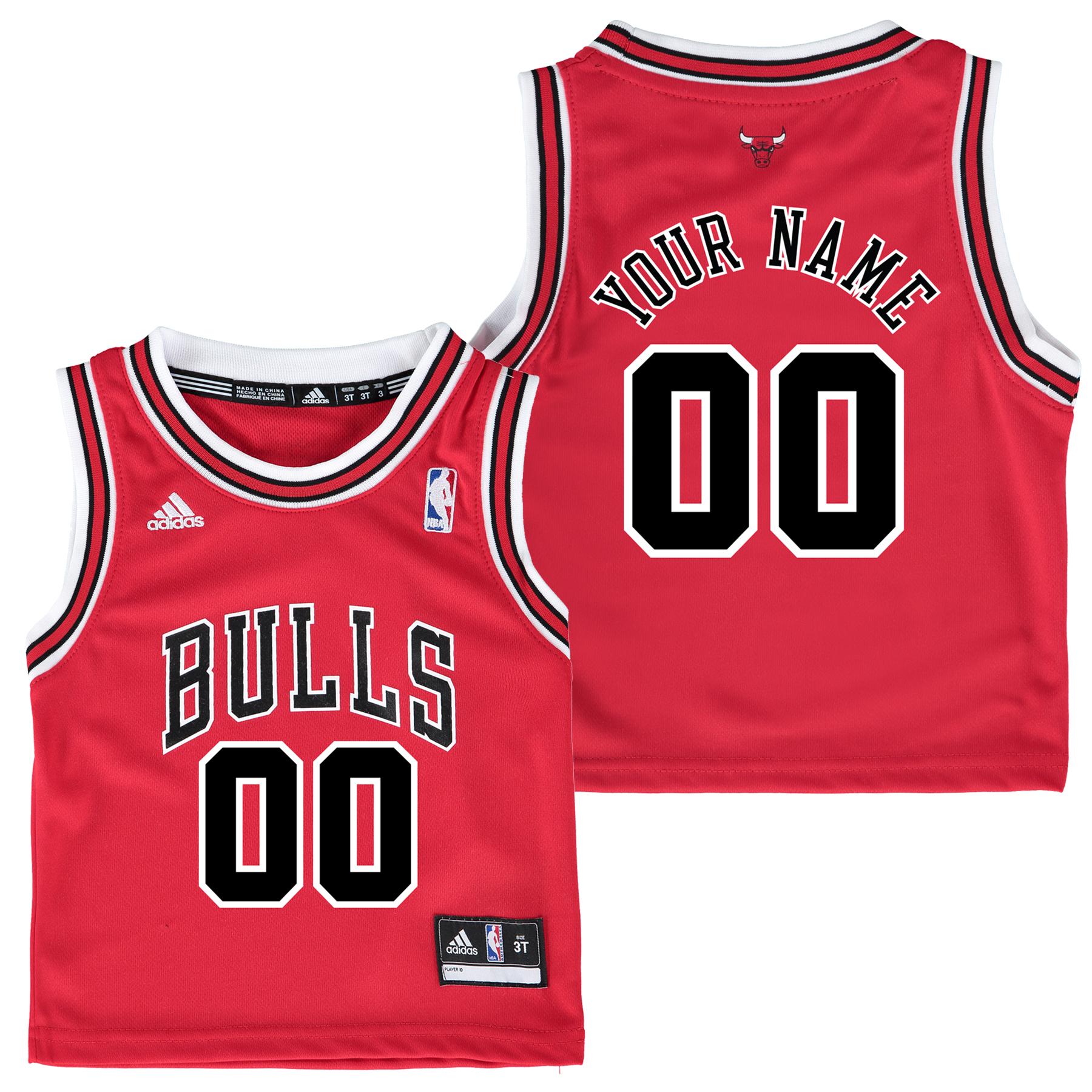 Chicago Bulls Road Replica Jersey - Custom - Toddler