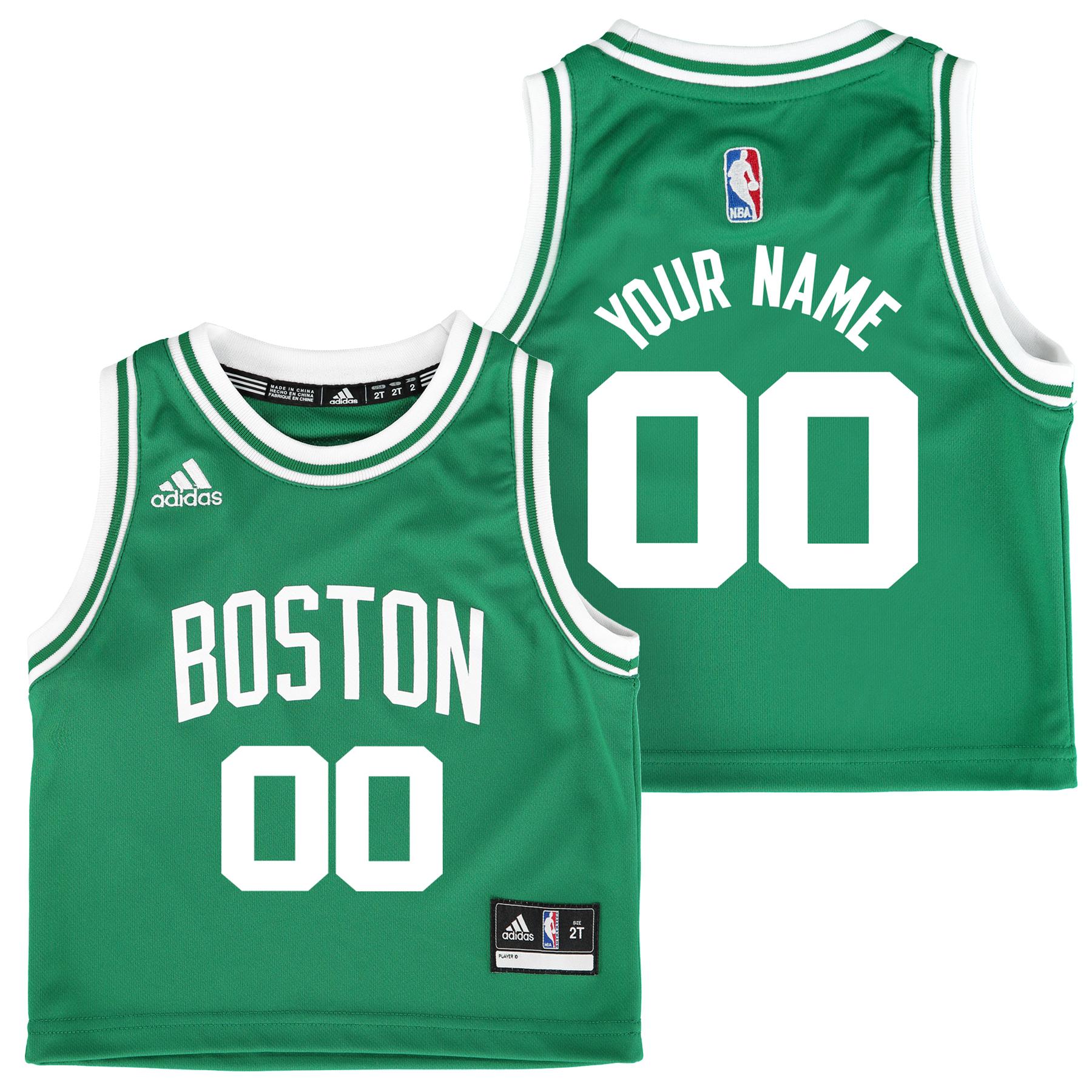 Boston Celtics Road Replica Jersey - Custom - Toddler