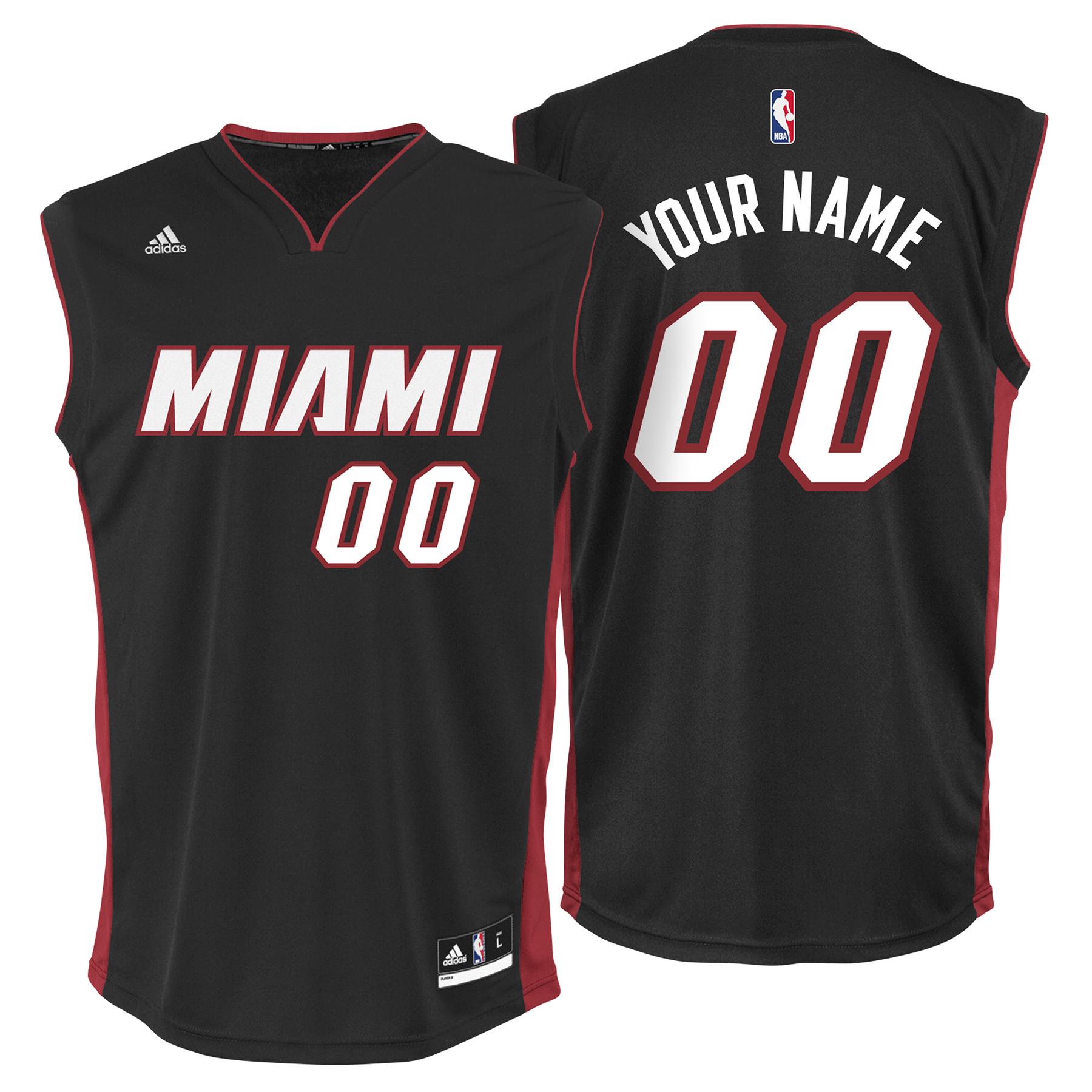 Miami Heat Road Replica Jersey - Custom - Youth