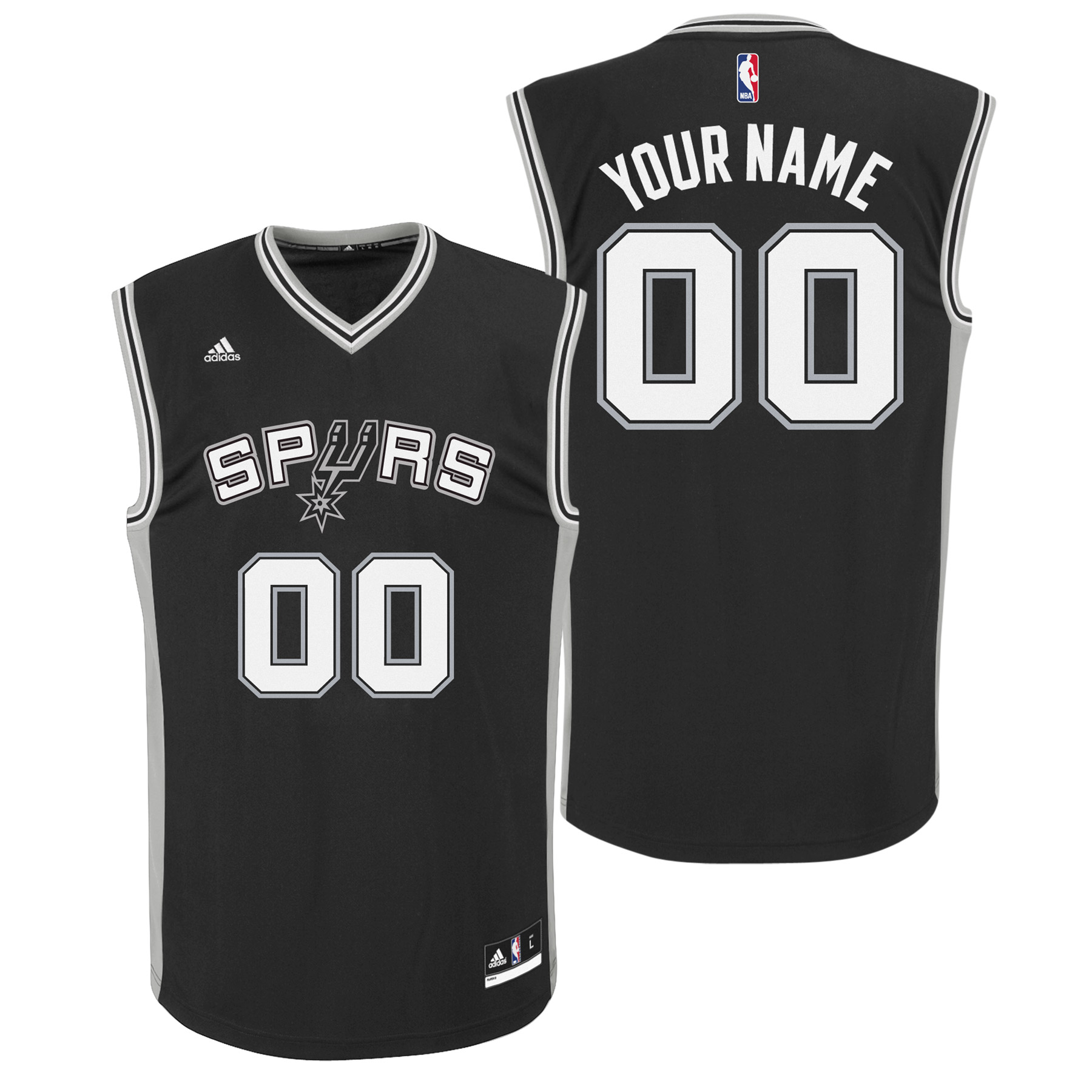 San Antonio Spurs Road Replica Jersey - Custom - Youth
