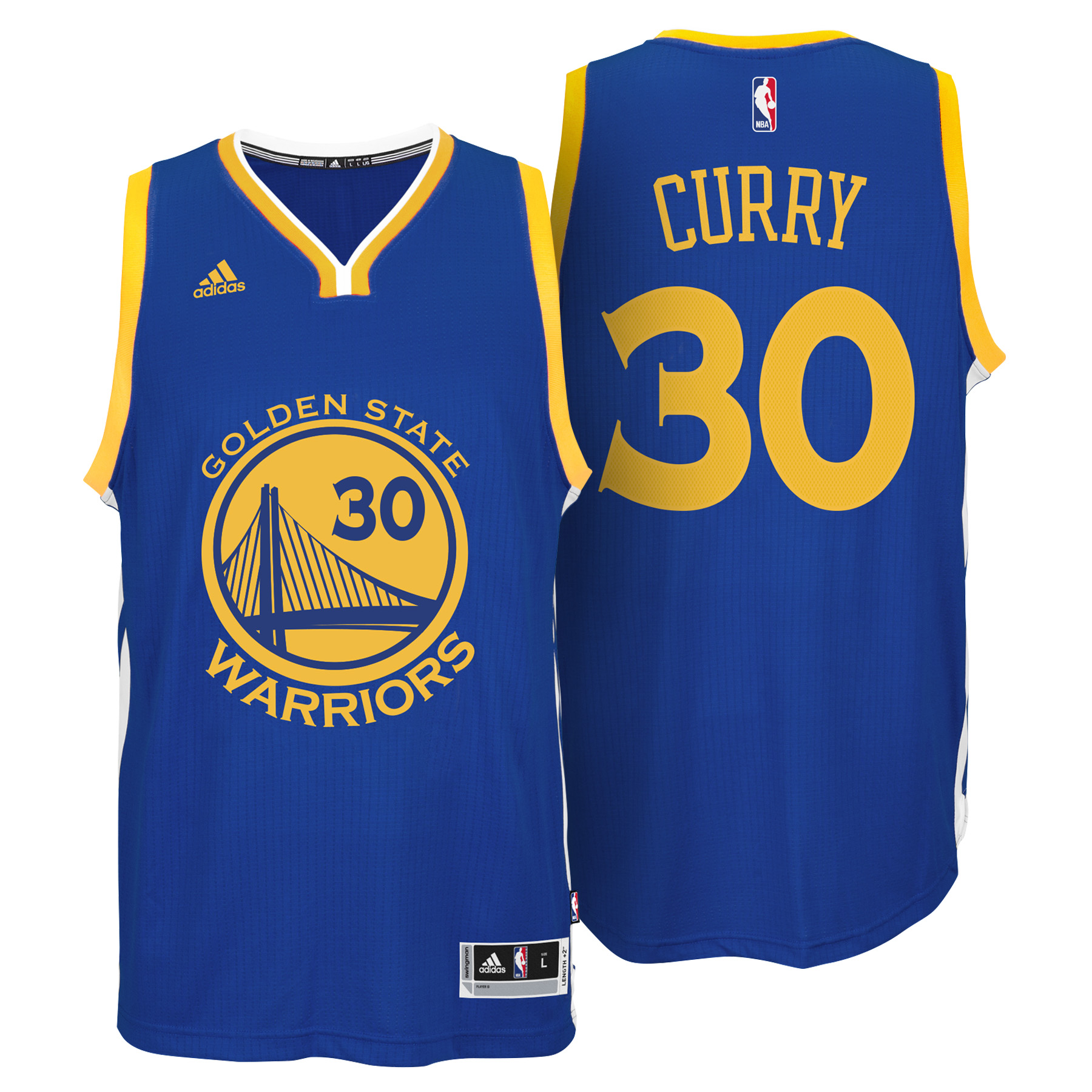 Golden State Warriors Road Swingman Jersey - Stephen Curry - Youths