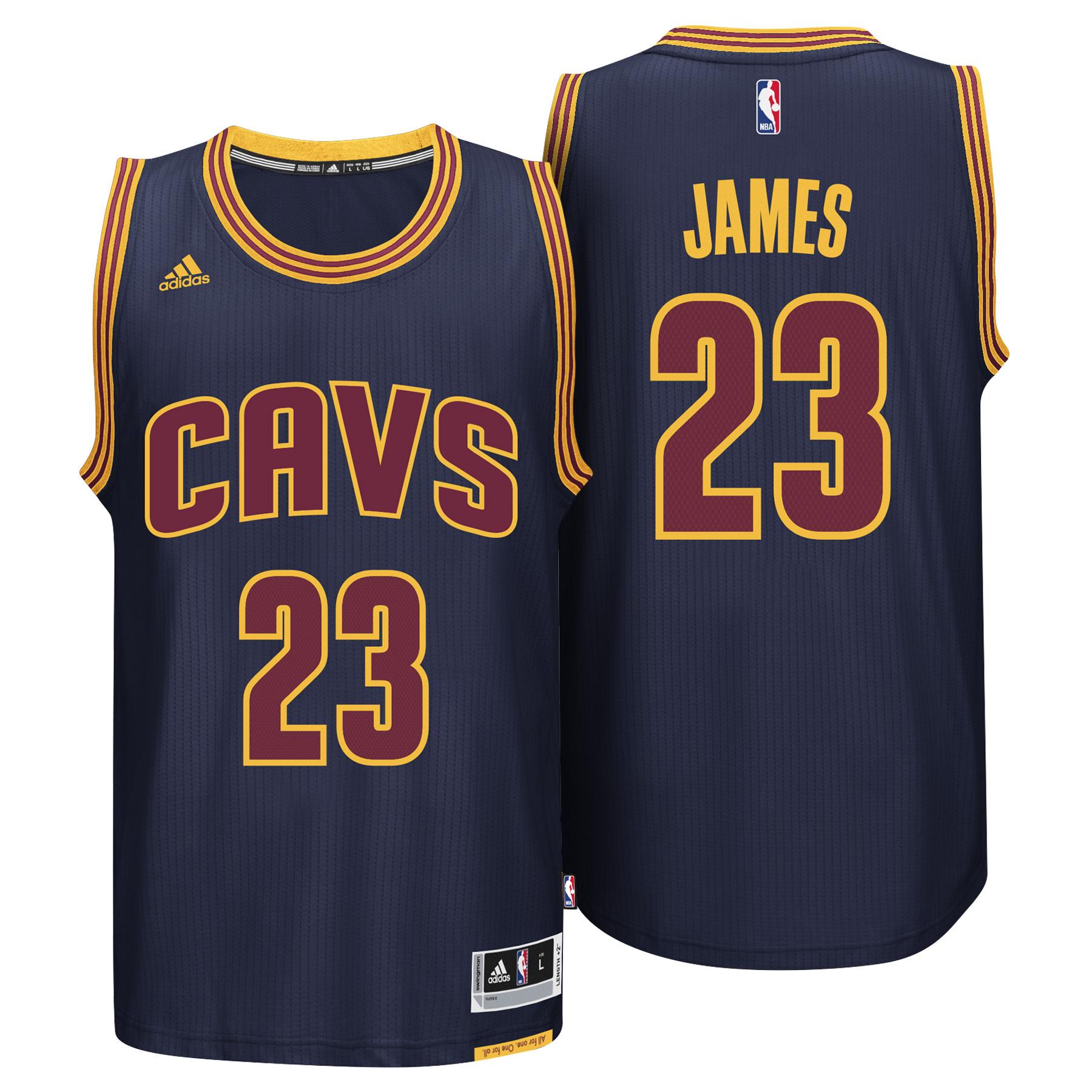 Cleveland Cavaliers Road Alternate Swingman Jersey - Lebron James - Yo
