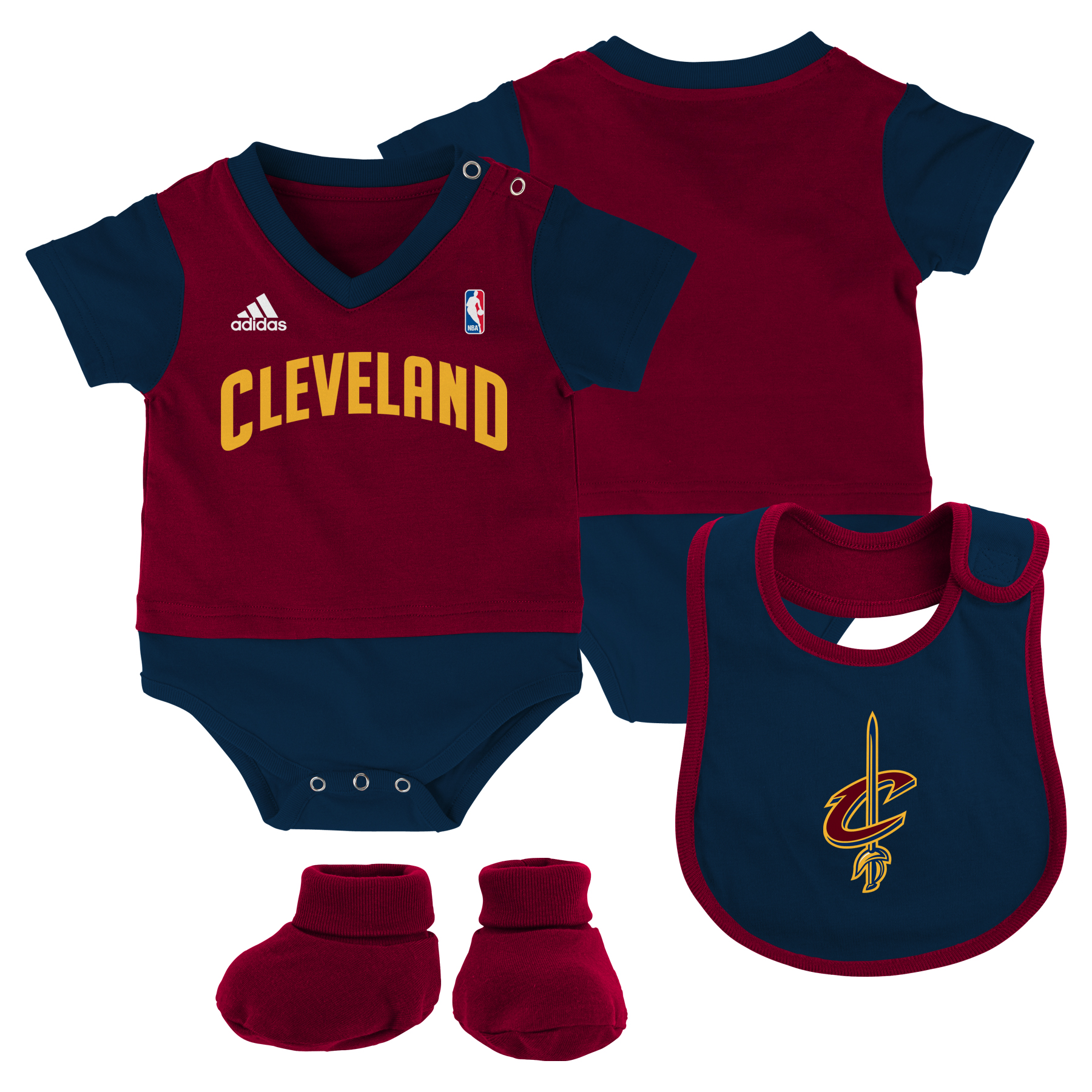 Cleveland Cavaliers Lil Jersey Baby Set - New Born