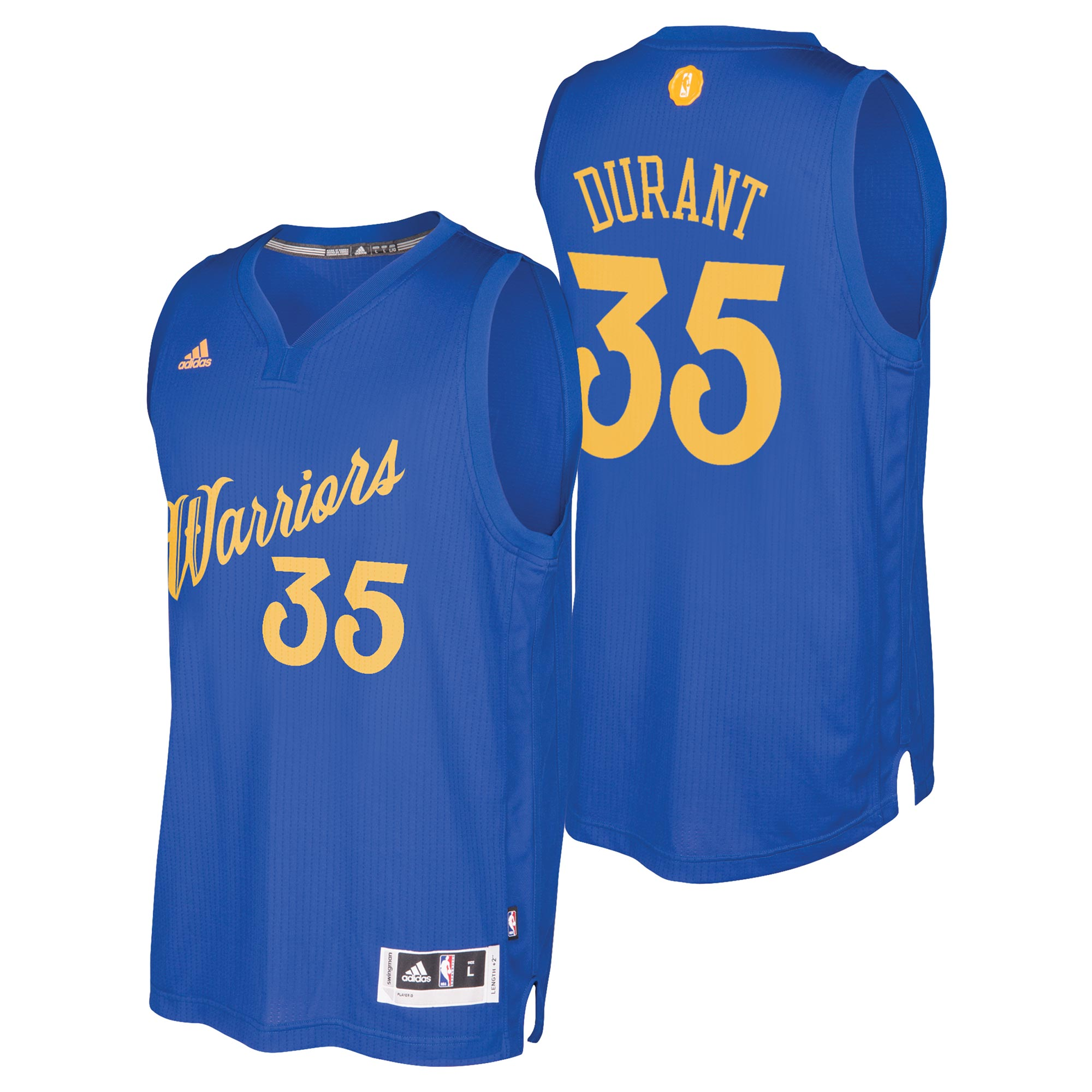 Golden State Warriors Christmas Day Swingman Jersey 2016 - Kevin Duran