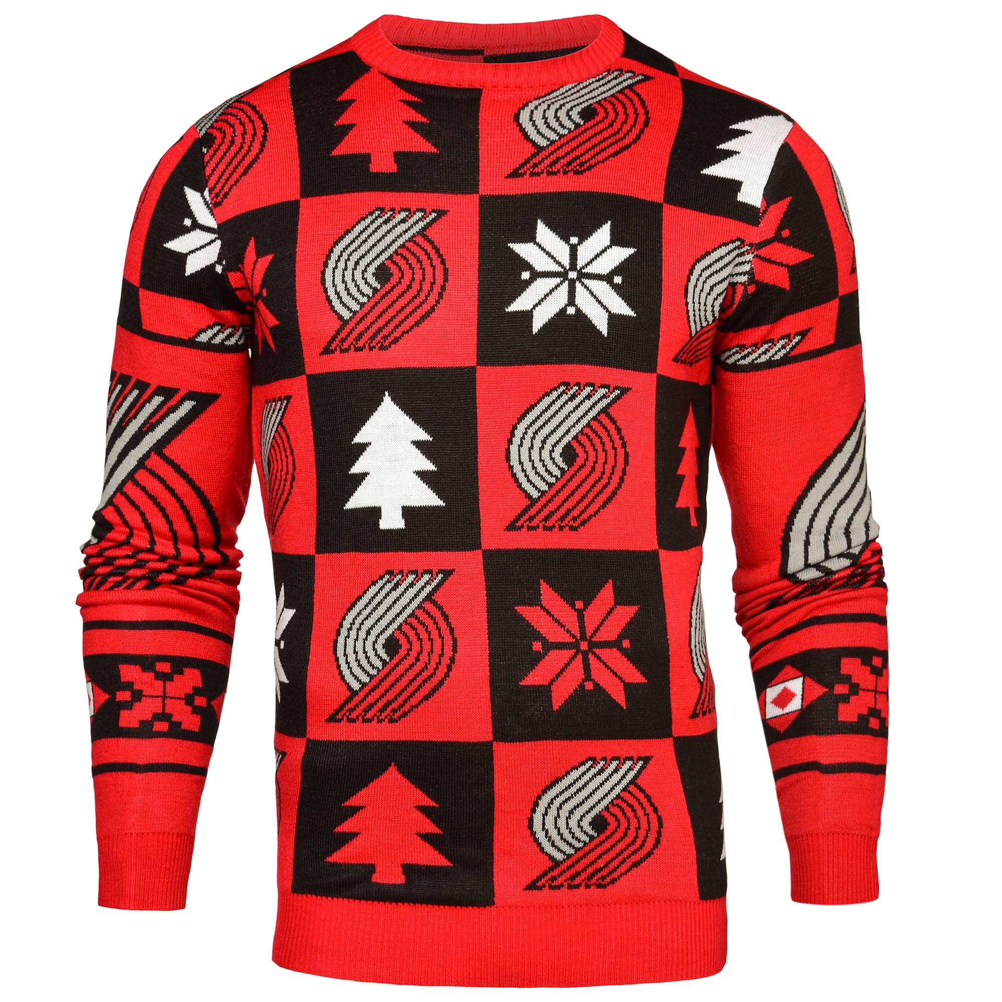 Portland Trailblazers 2016 Patches Ugly Jumper