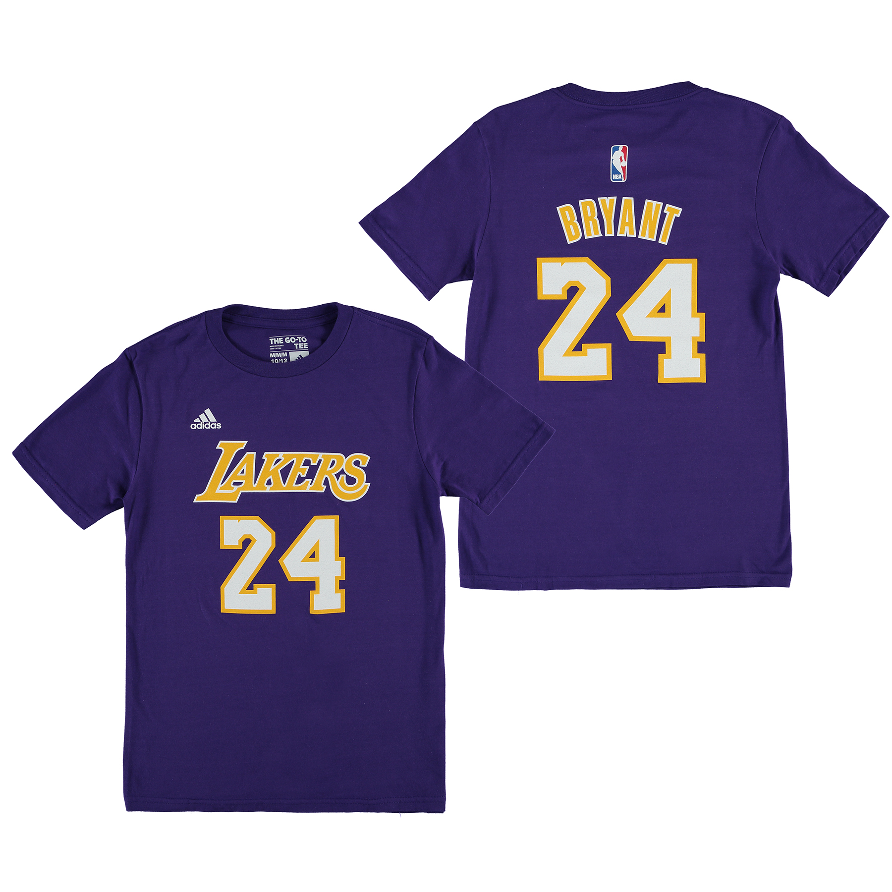 Los Angeles Lakers adidas Name & Number T-Shirt - Kobe Bryant - Youth
