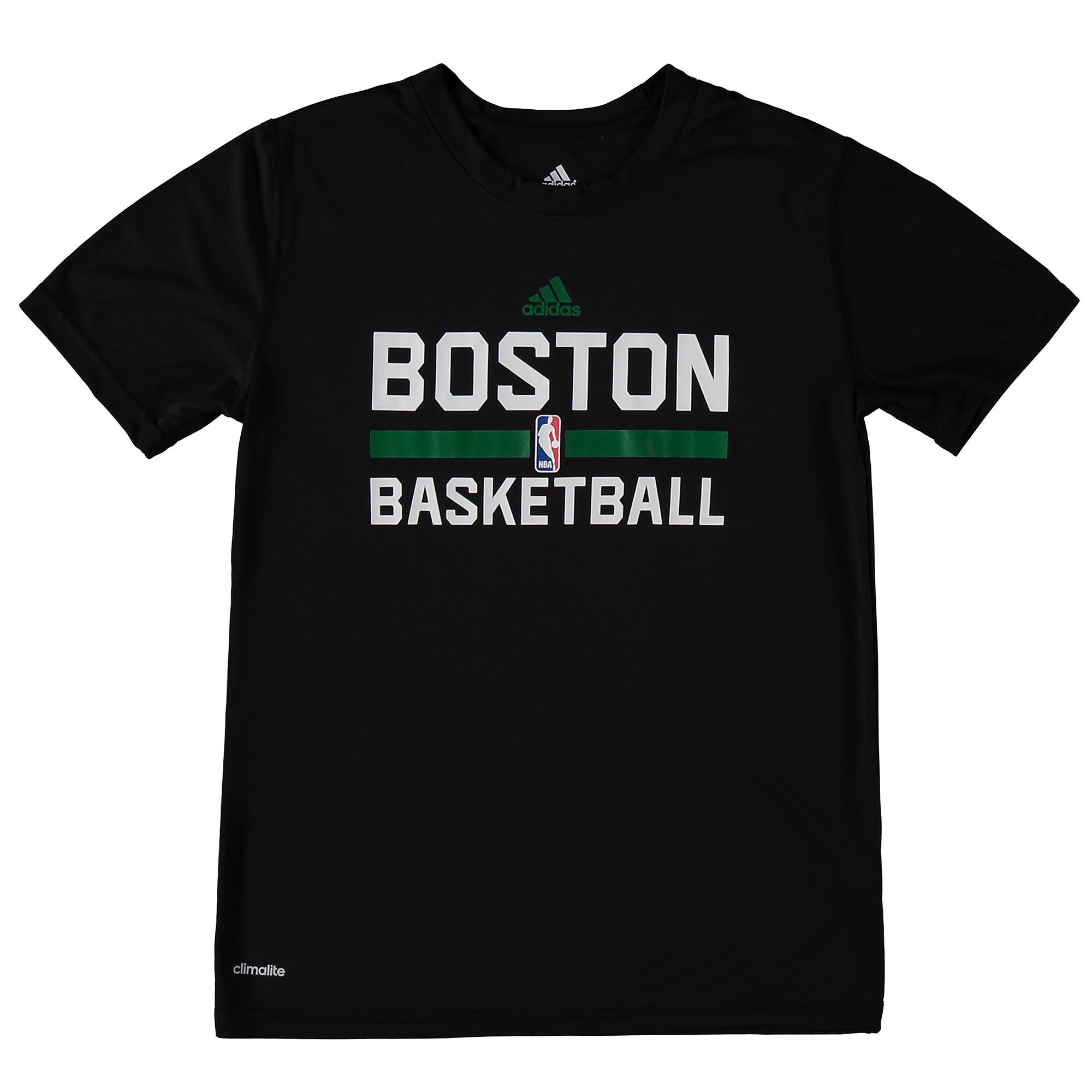 Boston Celtics adidas ClimaLITE Practise Short Sleeve T-Shirt - Youth