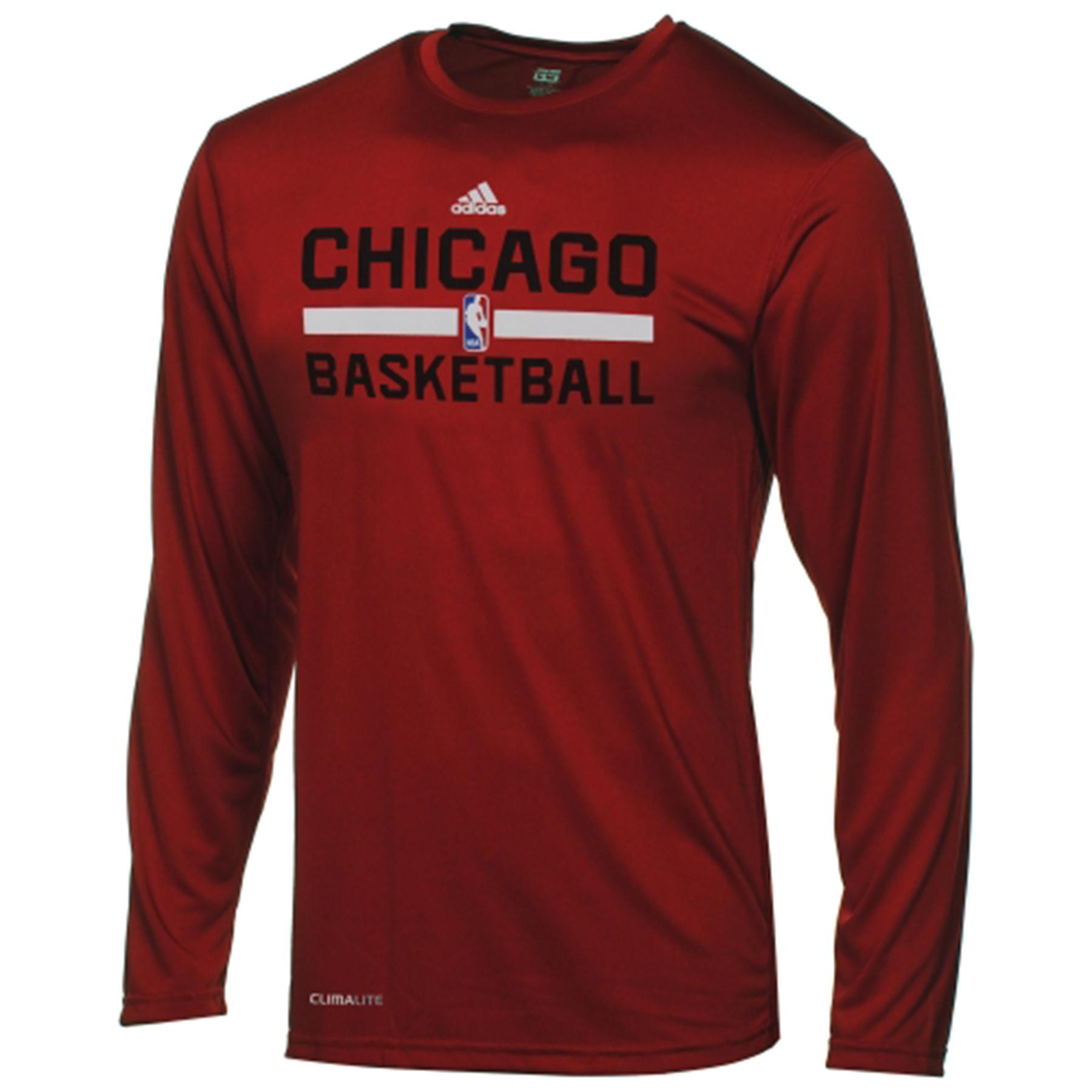 Chicago Bulls adidas ClimaLITE Practise Long Sleeve T-Shirt - Youth