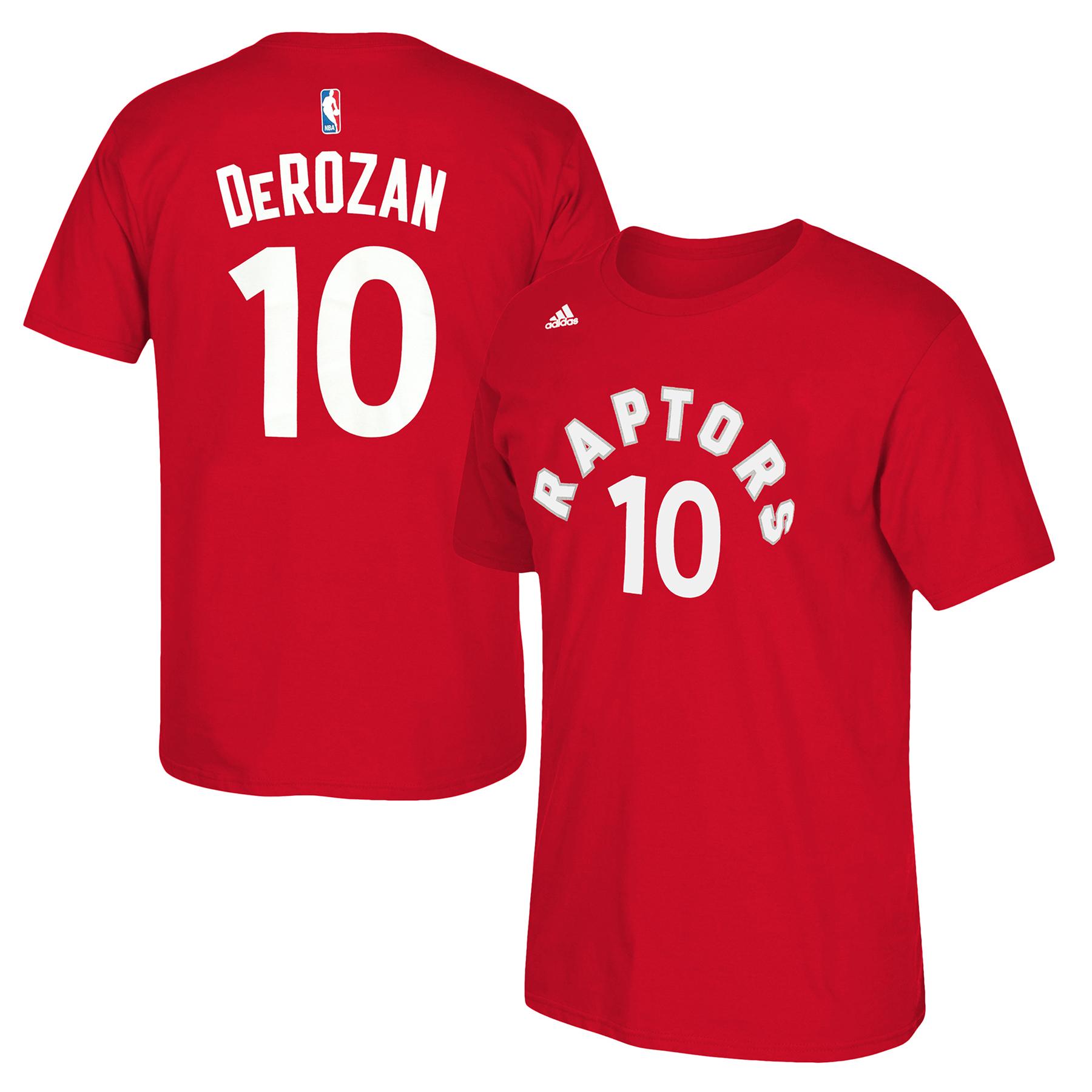 Toronto Raptors adidas Name & Number T-Shirt - DeMar DeRozan