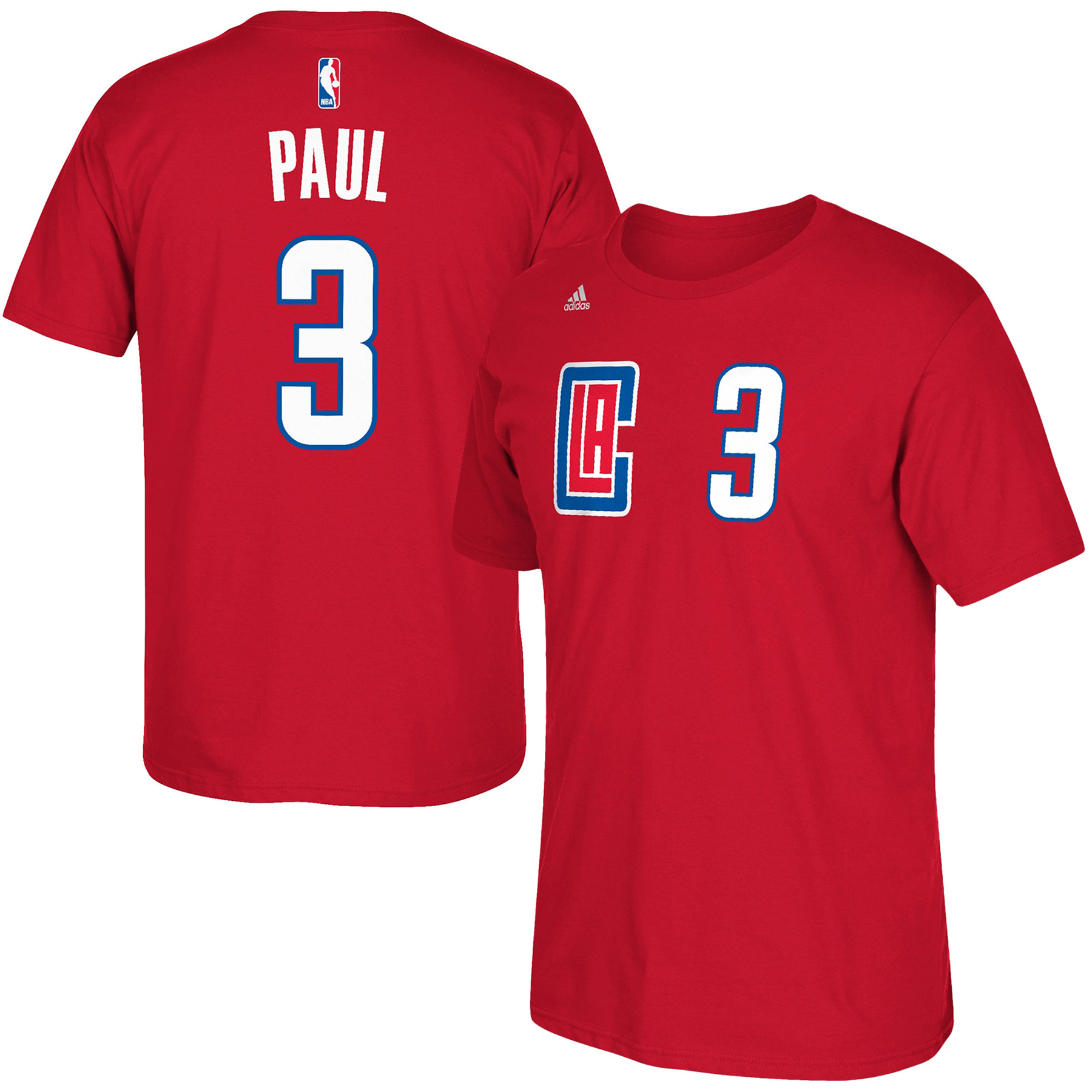 LA Clippers adidas Name & Number T-Shirt - Chris Paul