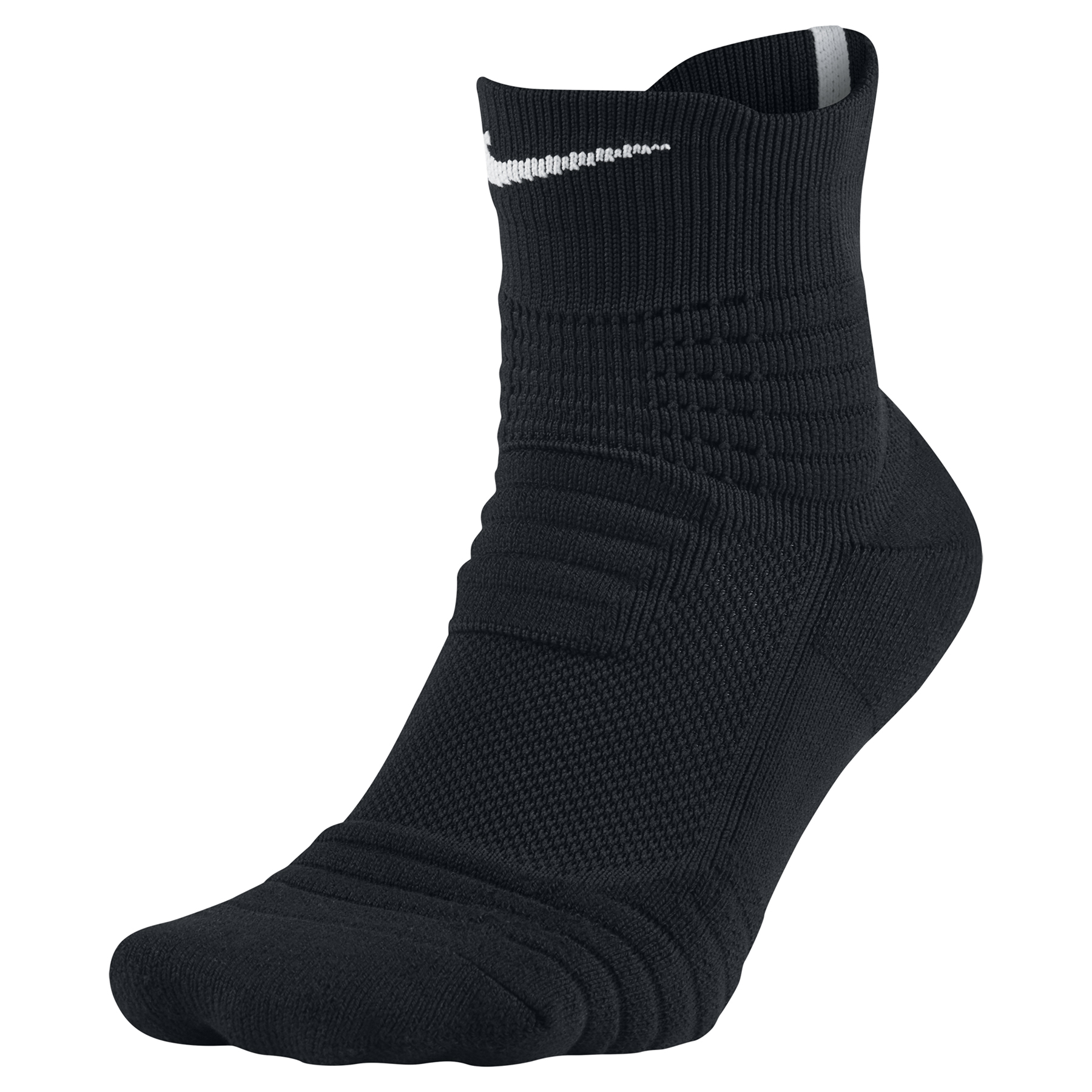 Nike Elite Versatility Mid Basketball Sock - Black/Black