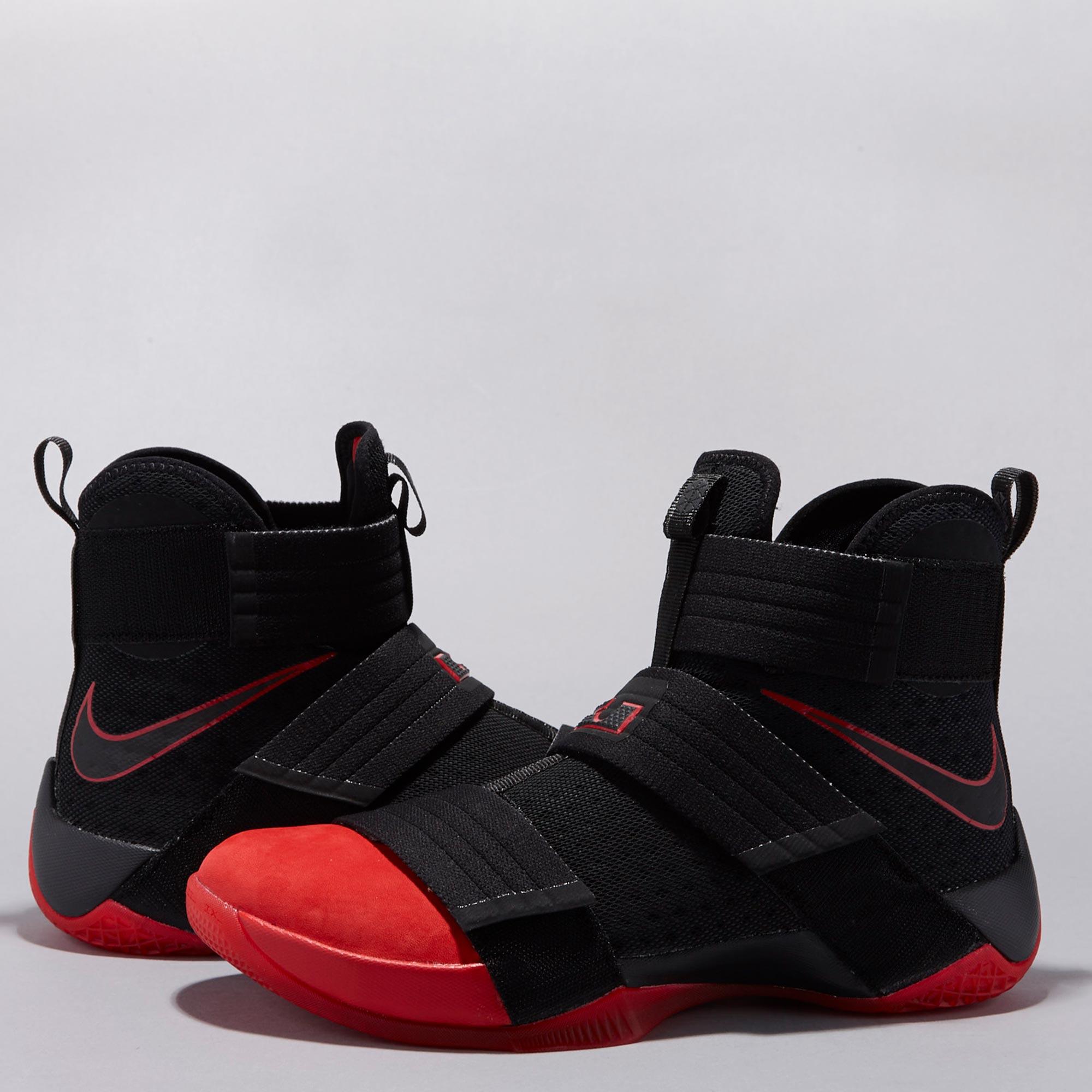 Nike LeBron Soldier 10 SFG Basketball Shoe - Black/University Red