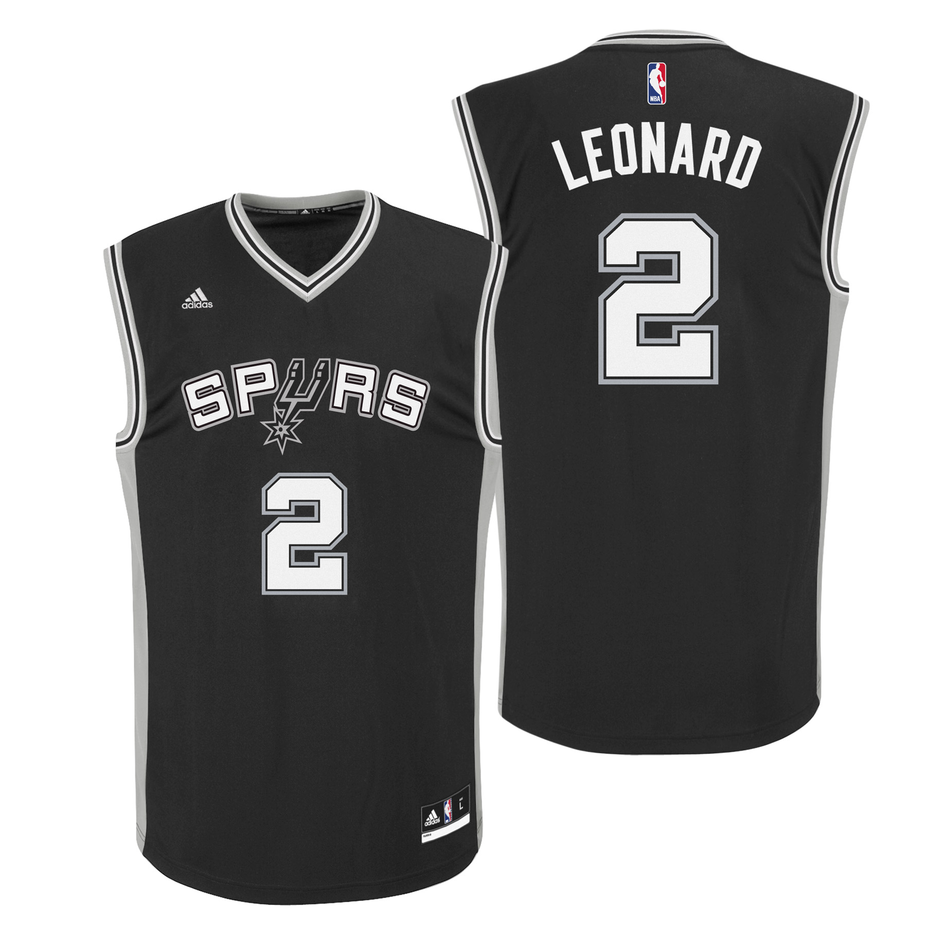 San Antonio Spurs Road Replica Jersey - Kawhi Leonard - Youth