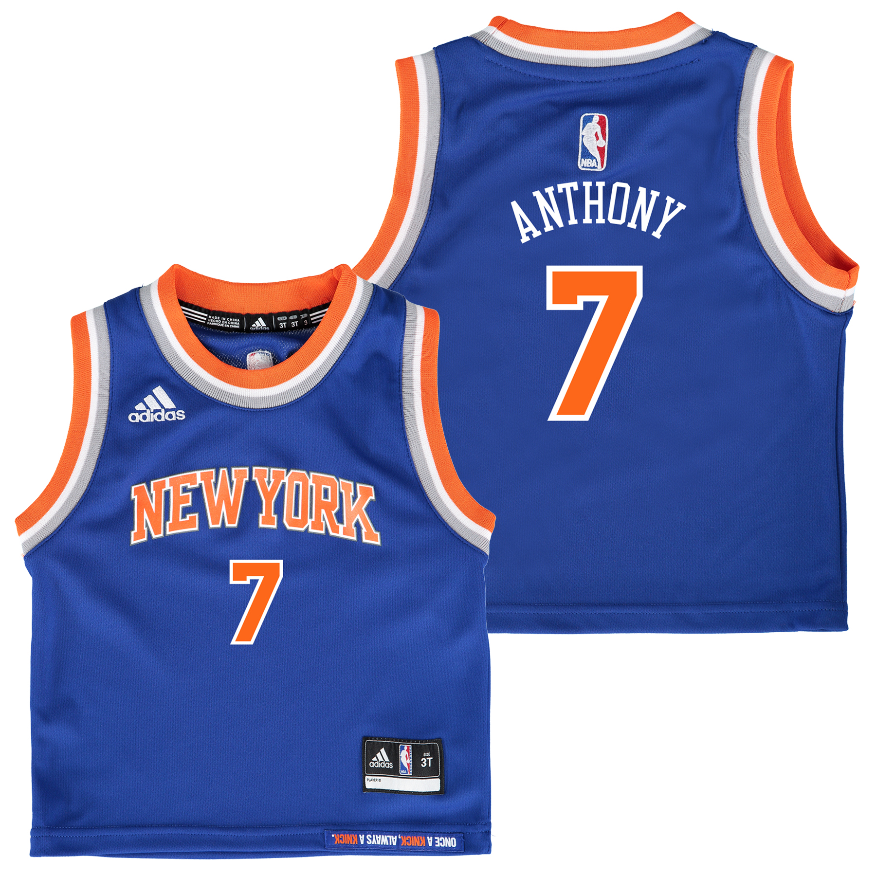 New York Knicks Road Replica Jersey - Carmelo Anthony - Kids