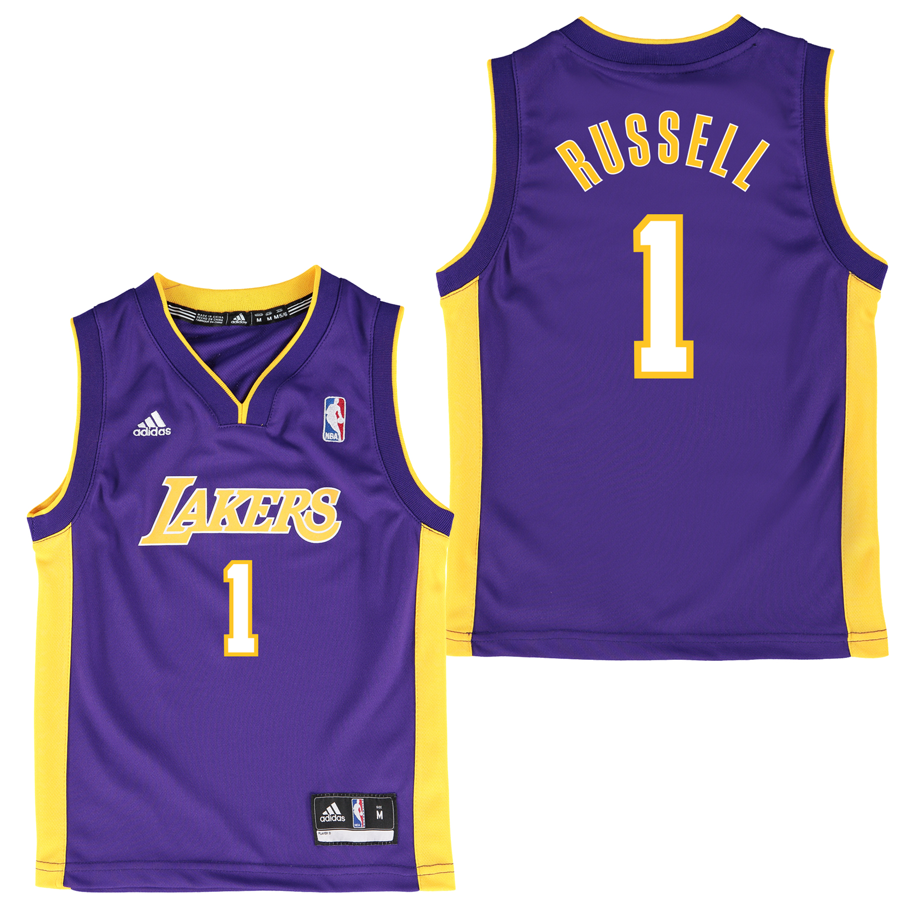 Los Angeles Lakers Home Replica Jersey - D Angelo Russell - Kids