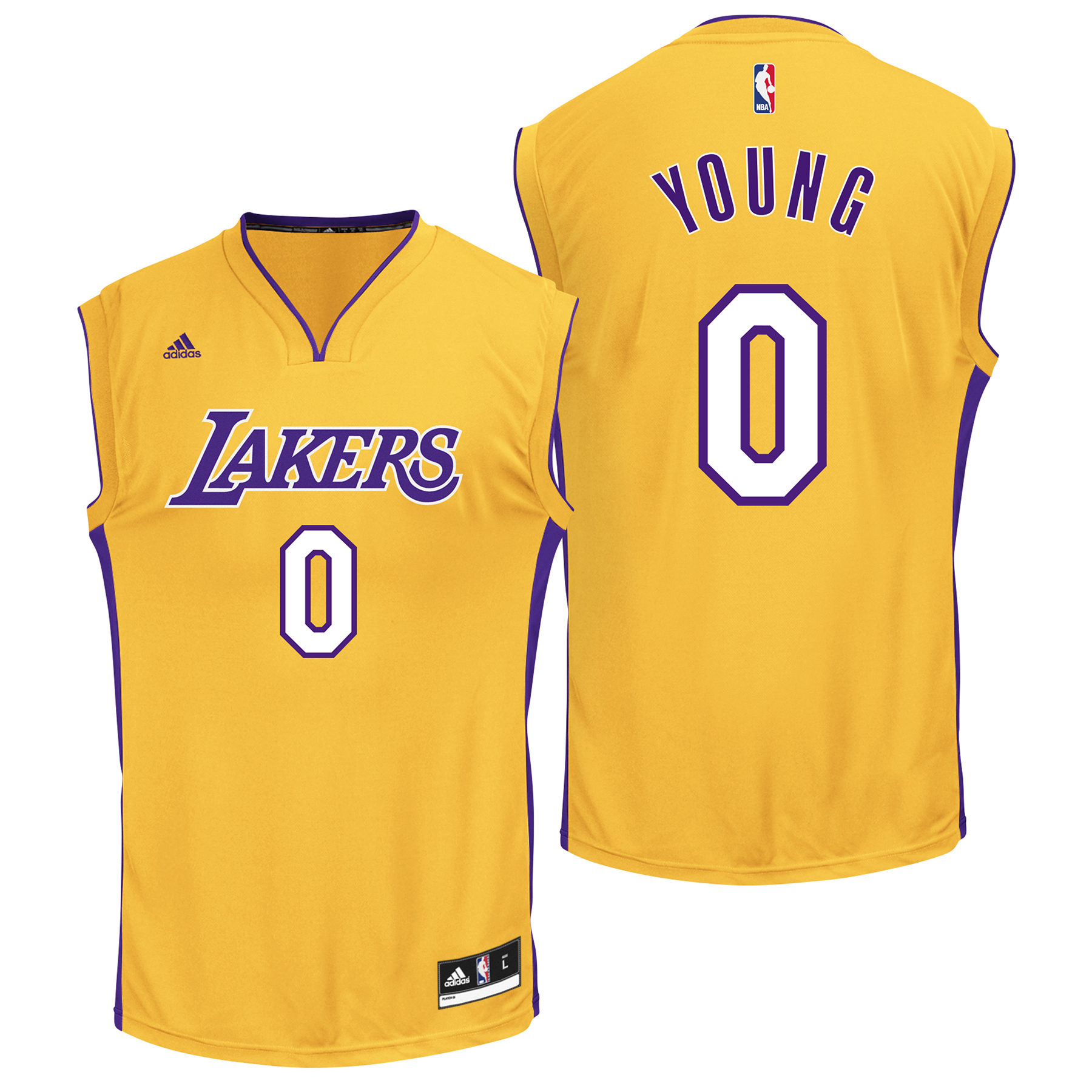 Los Angeles Lakers Home Replica Jersey - Nick Young - Youth
