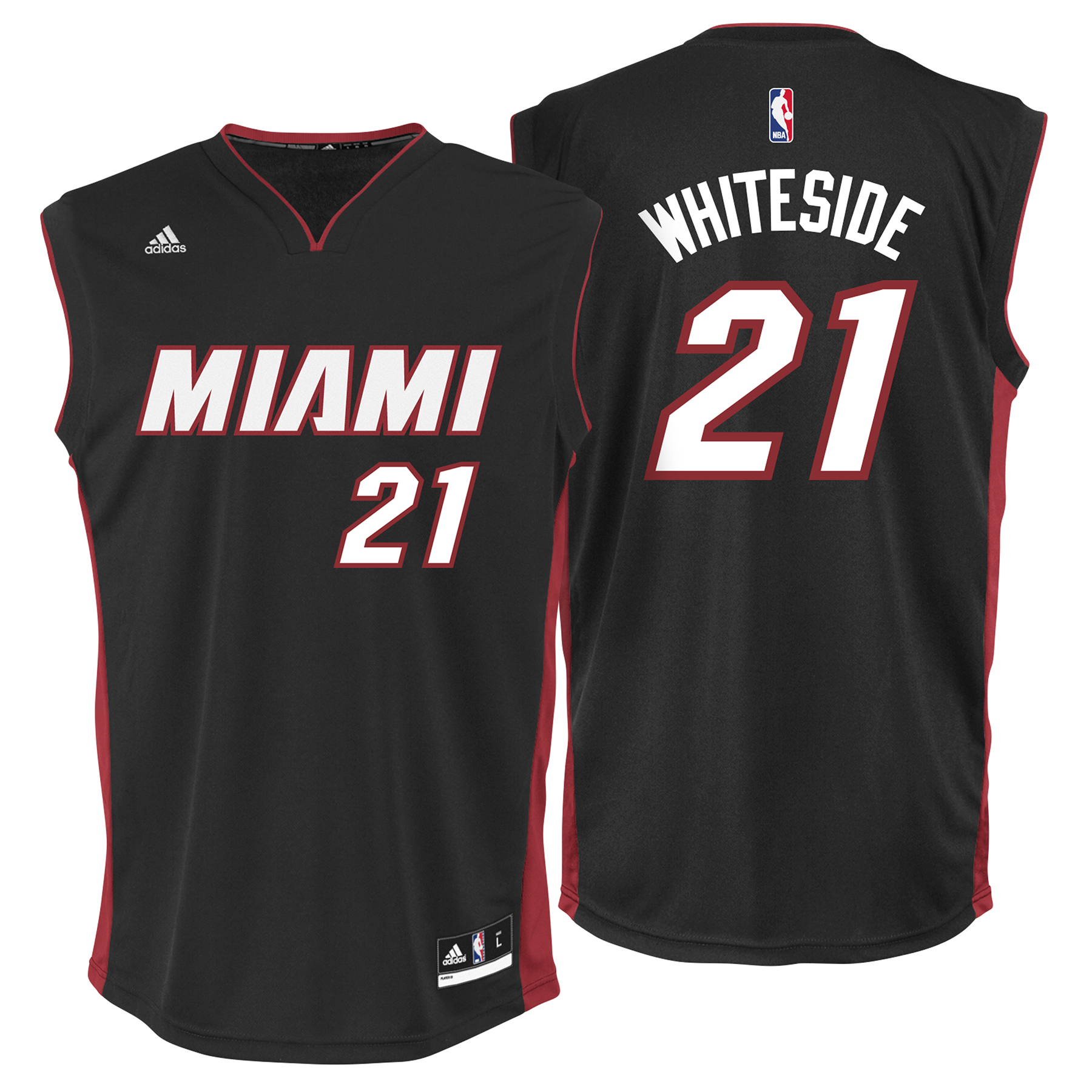Miami Heat Road Replica Jersey - Hassan Whiteside - Youth